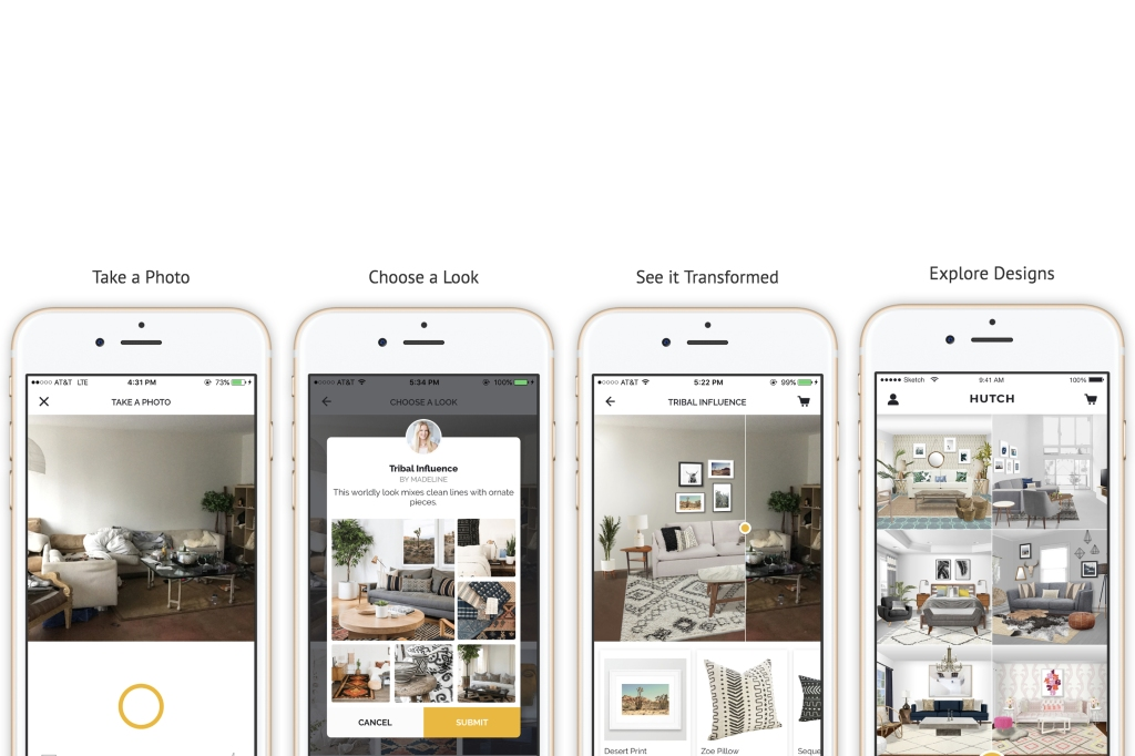 Homee App Relaunches as Hutch App to Make Interior Design