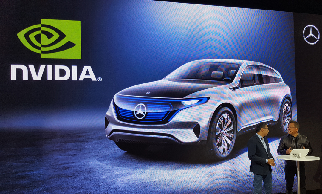 Mercedes-Benz Vice President of Digital Vehicle and Mobility Sajjad Khan and NVIDIA CEO Jen-Hsun Huang announced a partnership Friday, January 6, 2017, at CES in Las Vegas.