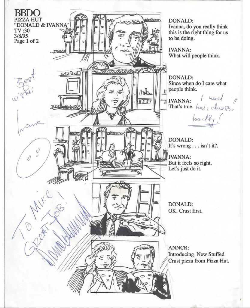 Pizza Hut - Donald and Ivanna storyboard