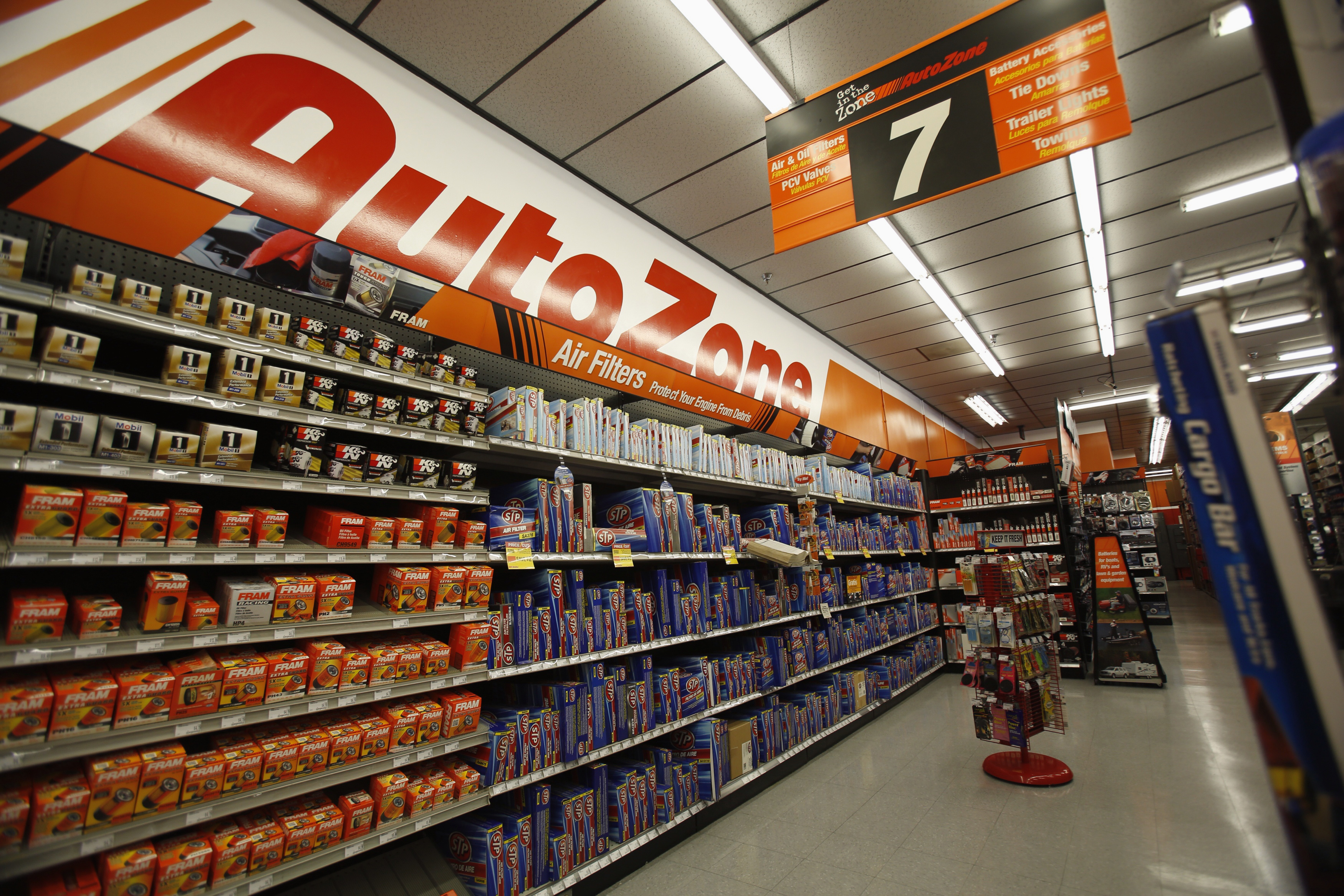 Products are pictured at an AutoZone store in Temple City