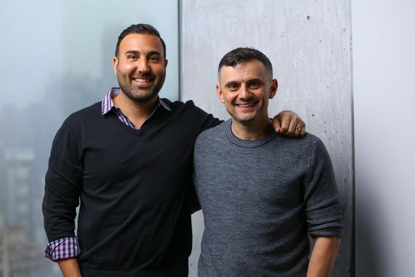 Gary Vaynerchuk (right) is acquiring Ryan Harwood's company, PureWow.