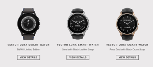 Several models of the vector smartwatch