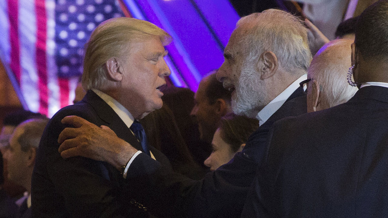 Donald Trump and Carl Icahn.