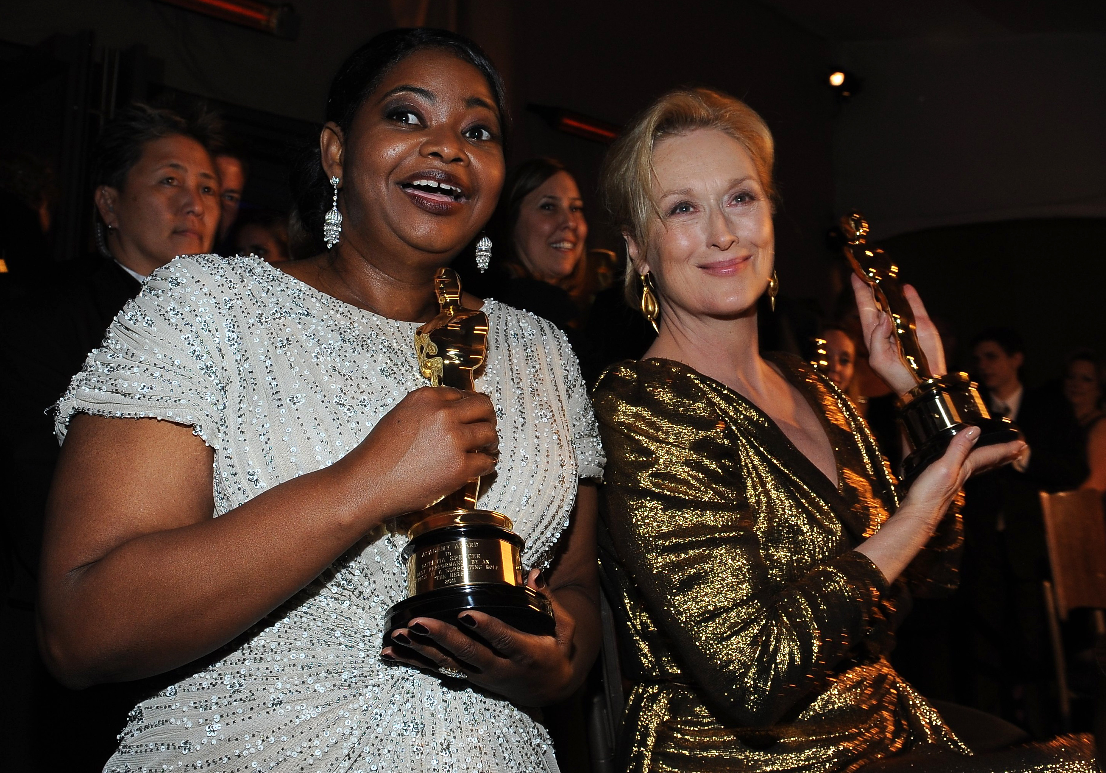 Octavia Spencer (L), winner for Best Act
