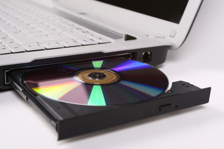 Laptop with DVD drive