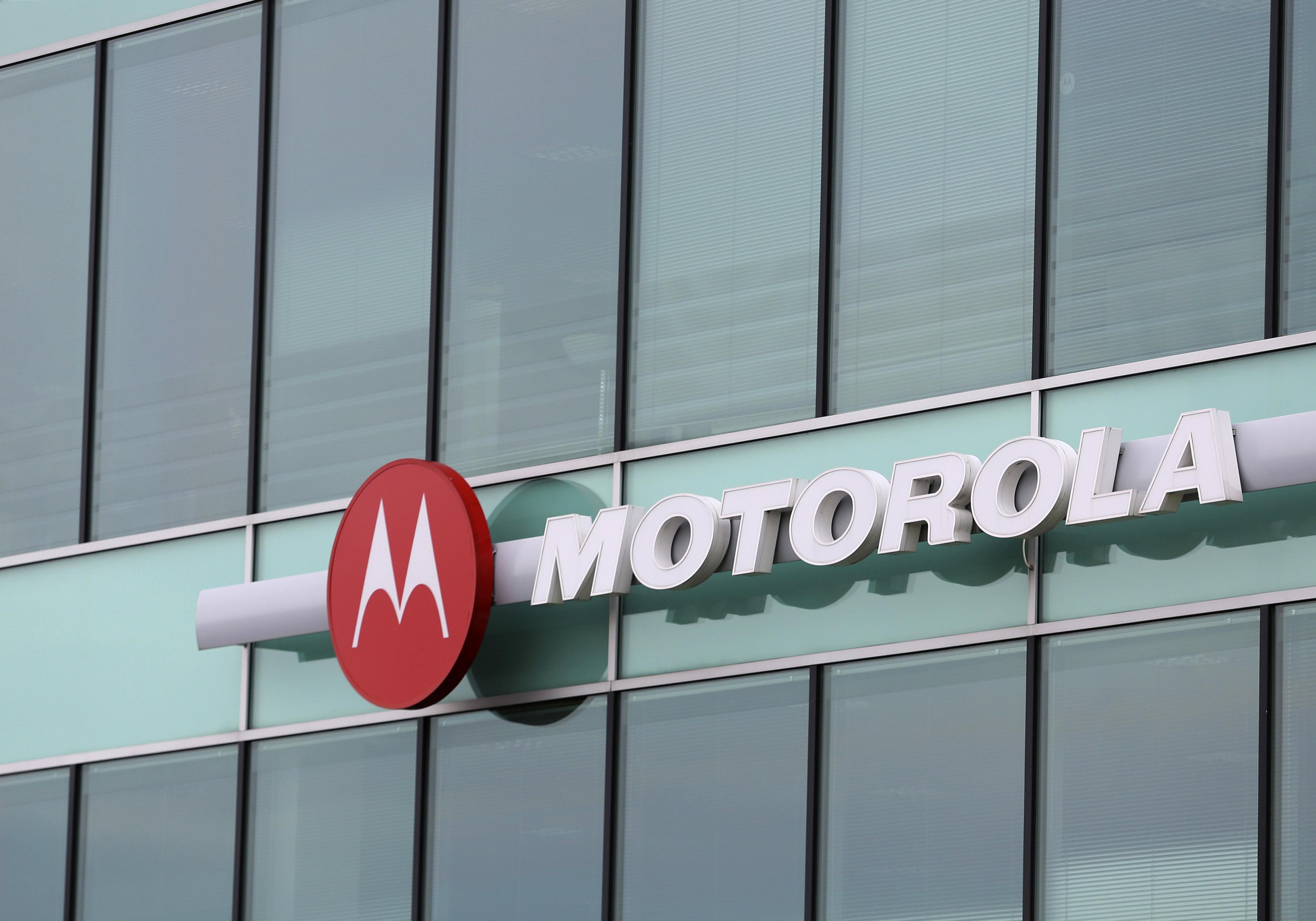A Motorola logo.