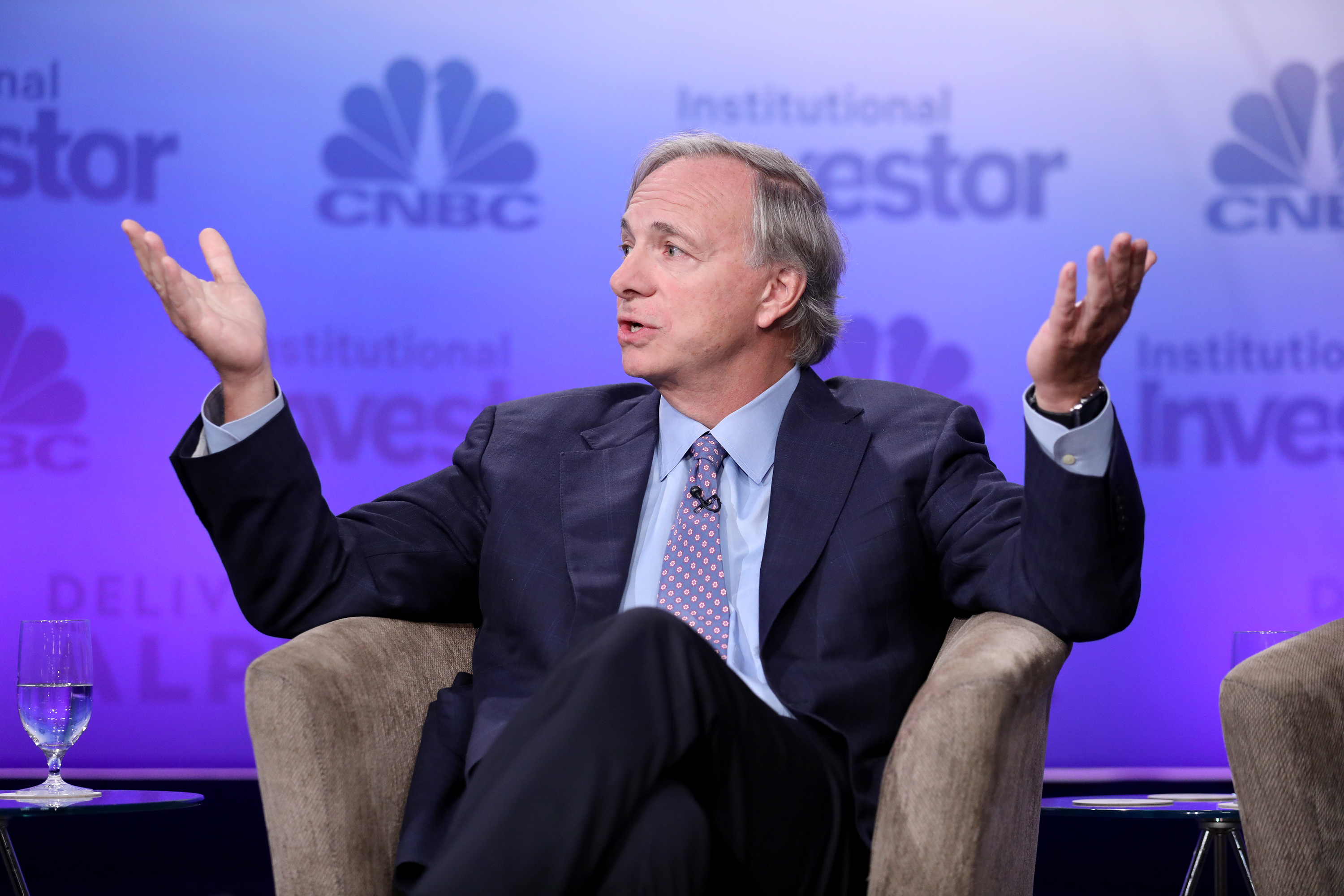 Ray Dalio, founder of Bridgewater Associates, at the 6th annual CNBC Institutional Investor Delivering Alpha Conference on Sept. 13, 2016 in New York.