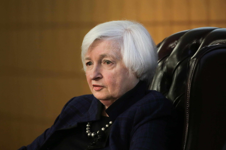 Janet Yellen Discusses U.S. Economic Outlook At Stanford University