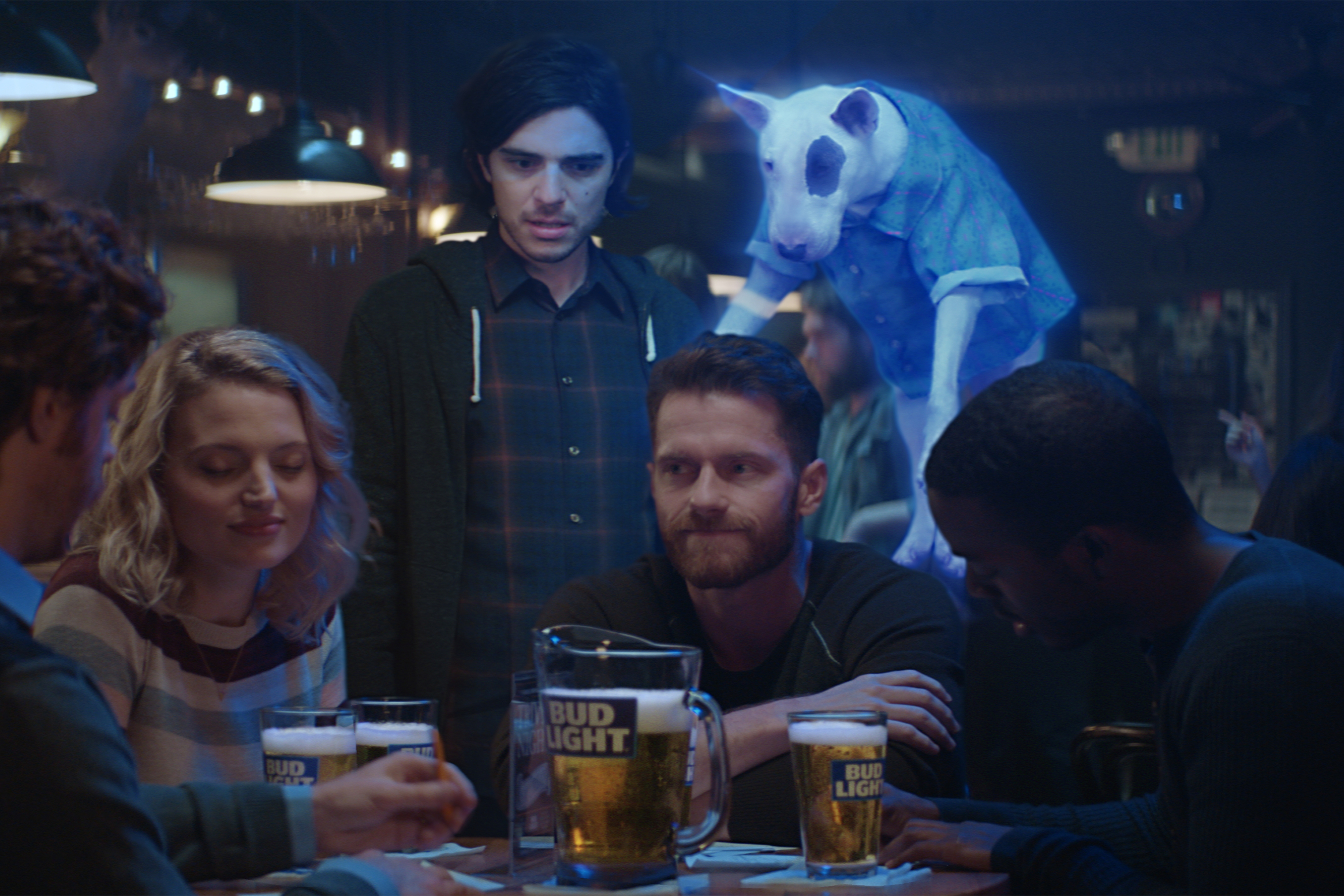 "Bud Light is bringing back Spuds MacKenzie, a dog character that first appeared in beer ads in the 1980s, in a new campaign called ""Ghost Spuds."""