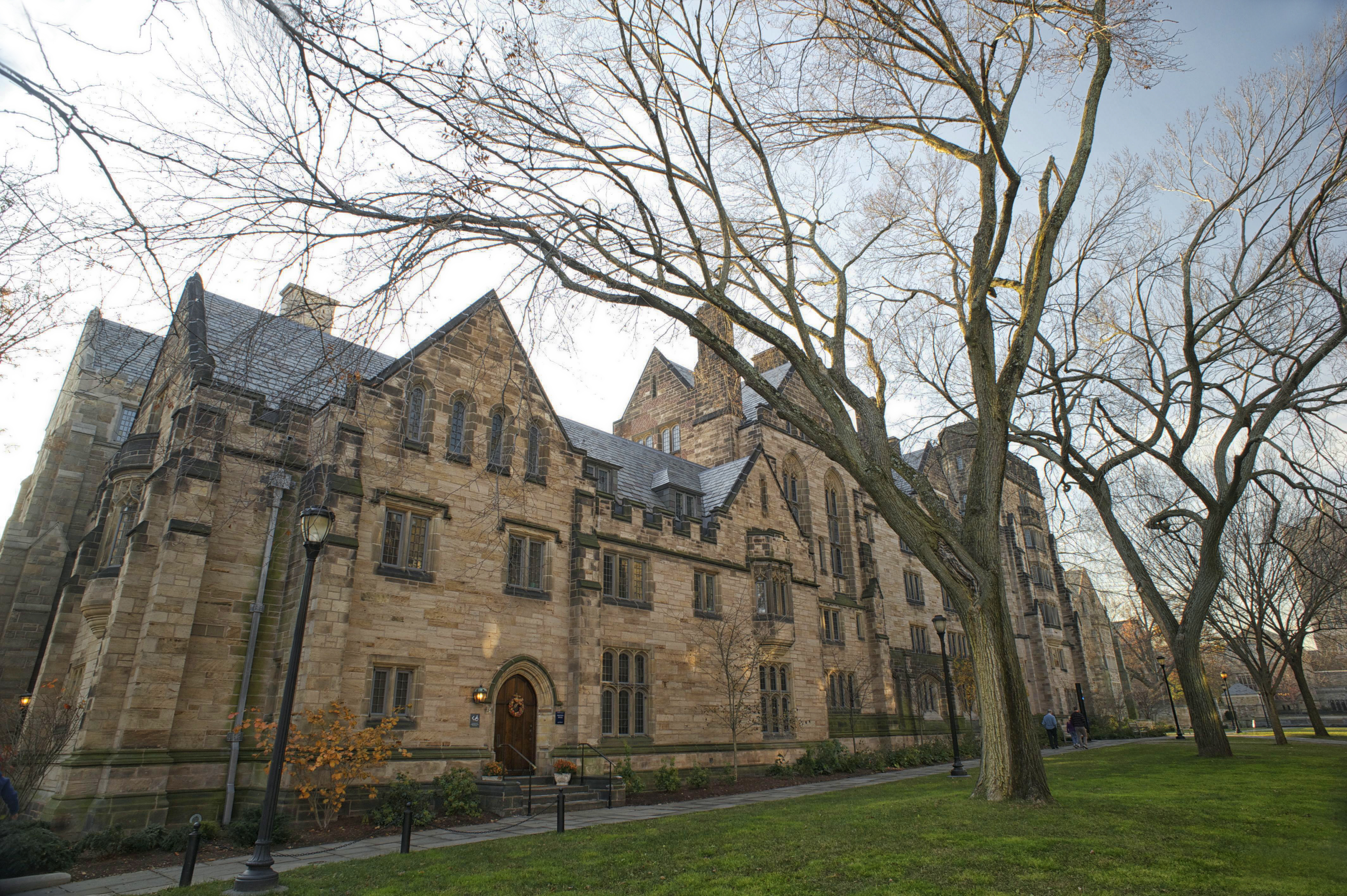 Calhoun College part of Yale University built in 1933, in collegiate gothic style architecture.