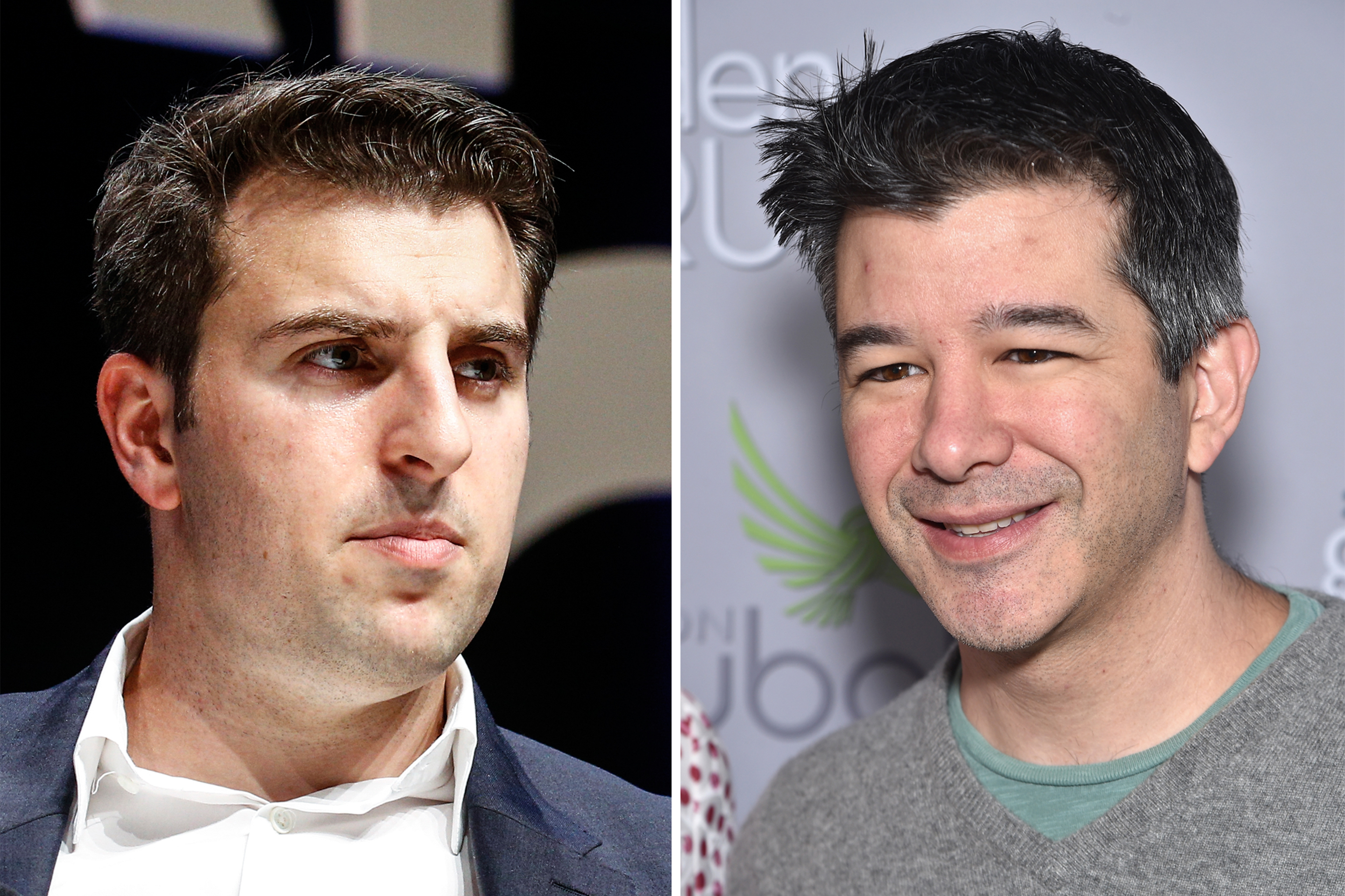 Brian Chesky and Travis Kalanick.