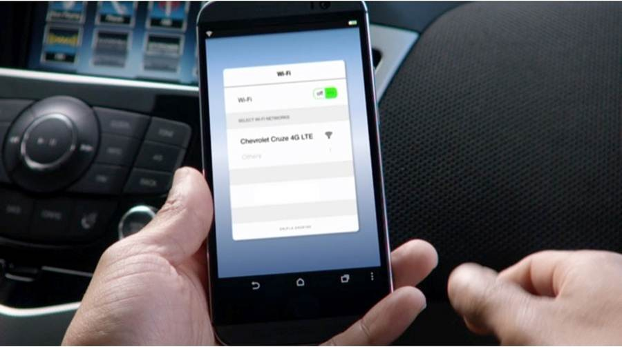 "A scene from ""First,"" an advertisement from Chevrolet to showcase its  deployment of vehicles with built-in 4G LTE Wi-Fi."