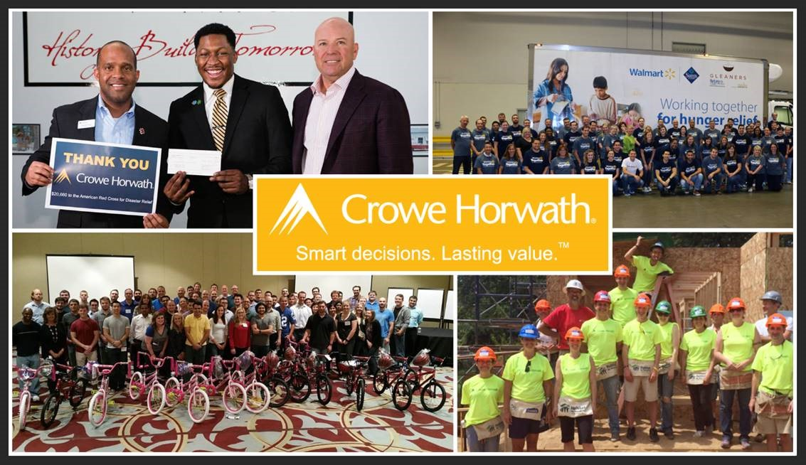 Best Workplaces for Giving Back 2017- Crowe Horwath