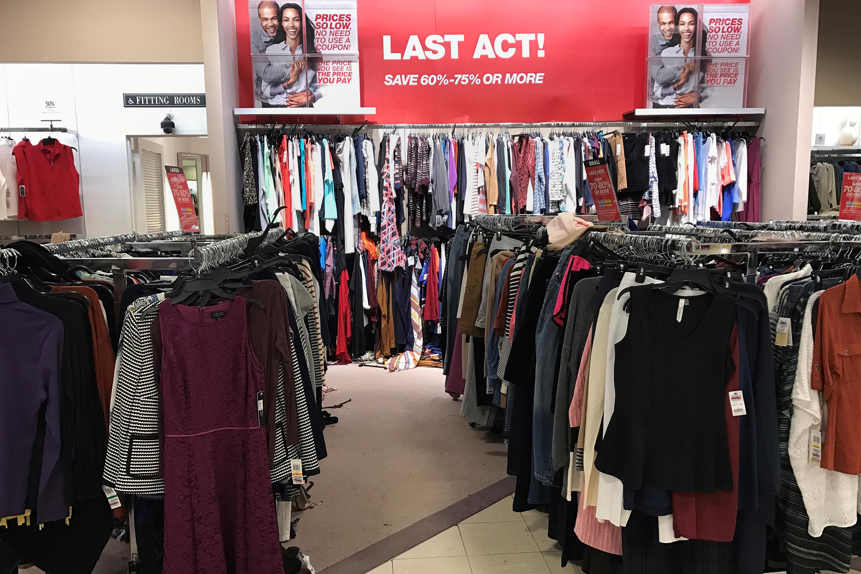 2929eb1d6bb5 An advertisement is seen inside a Macy's department store in Douglaston,  New York