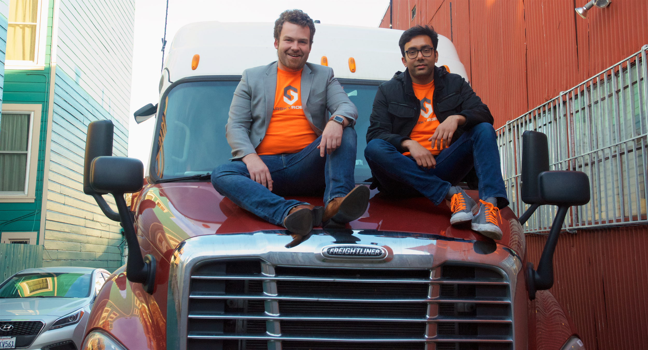 Starsky Robotics co-founders Stefan Seltz Axmacher and Kartik Tiwari.