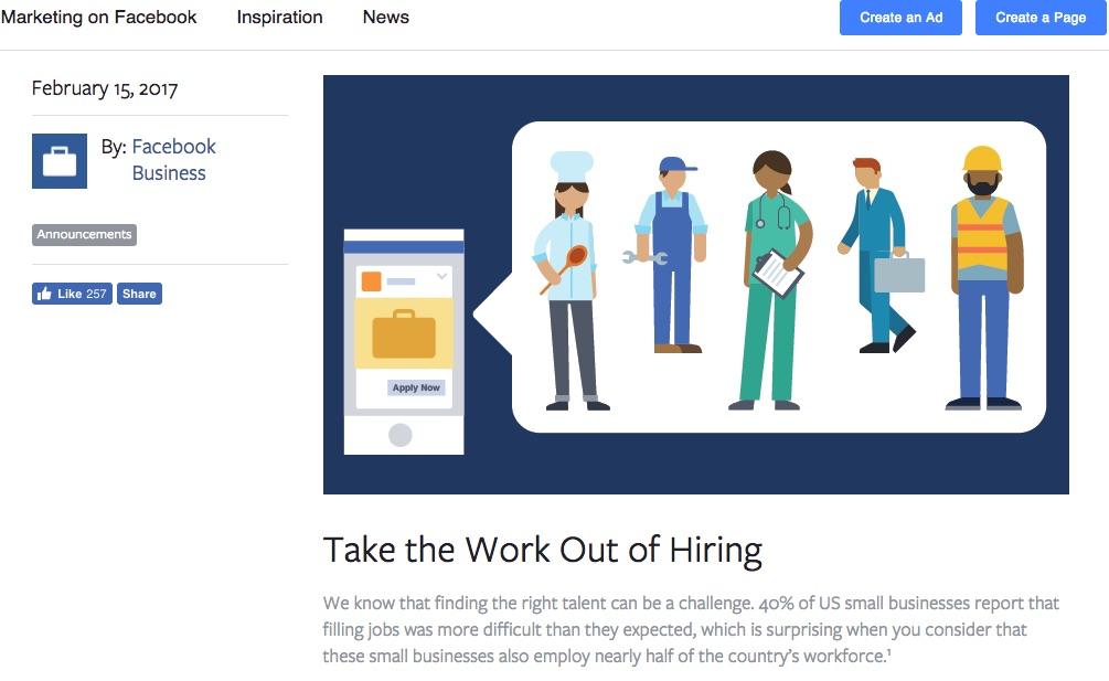 Facebook Users Debate About Job Postings on Social Network v