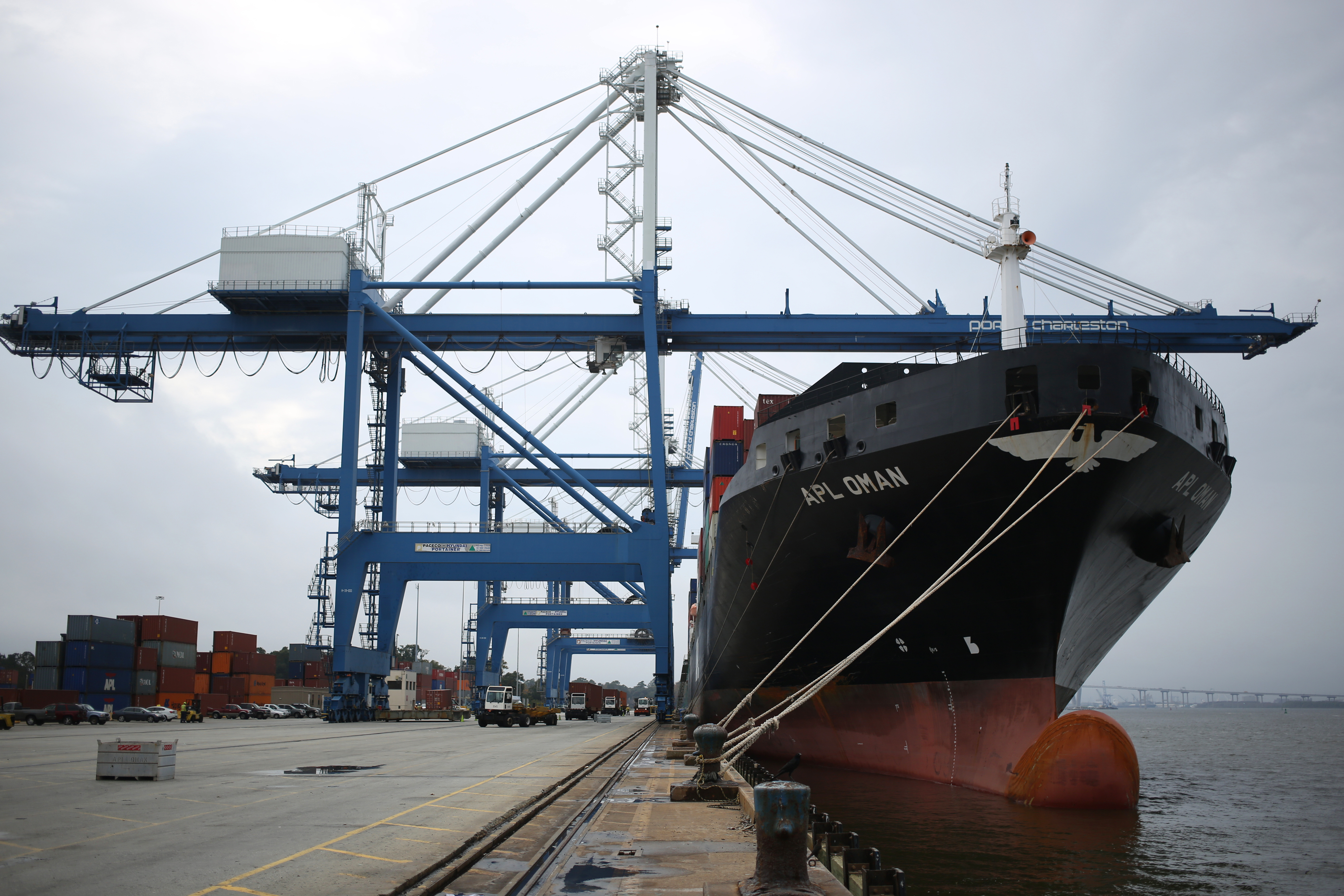 Operations At The Port Of Charleston Ahead Of International Trade Balance Figures