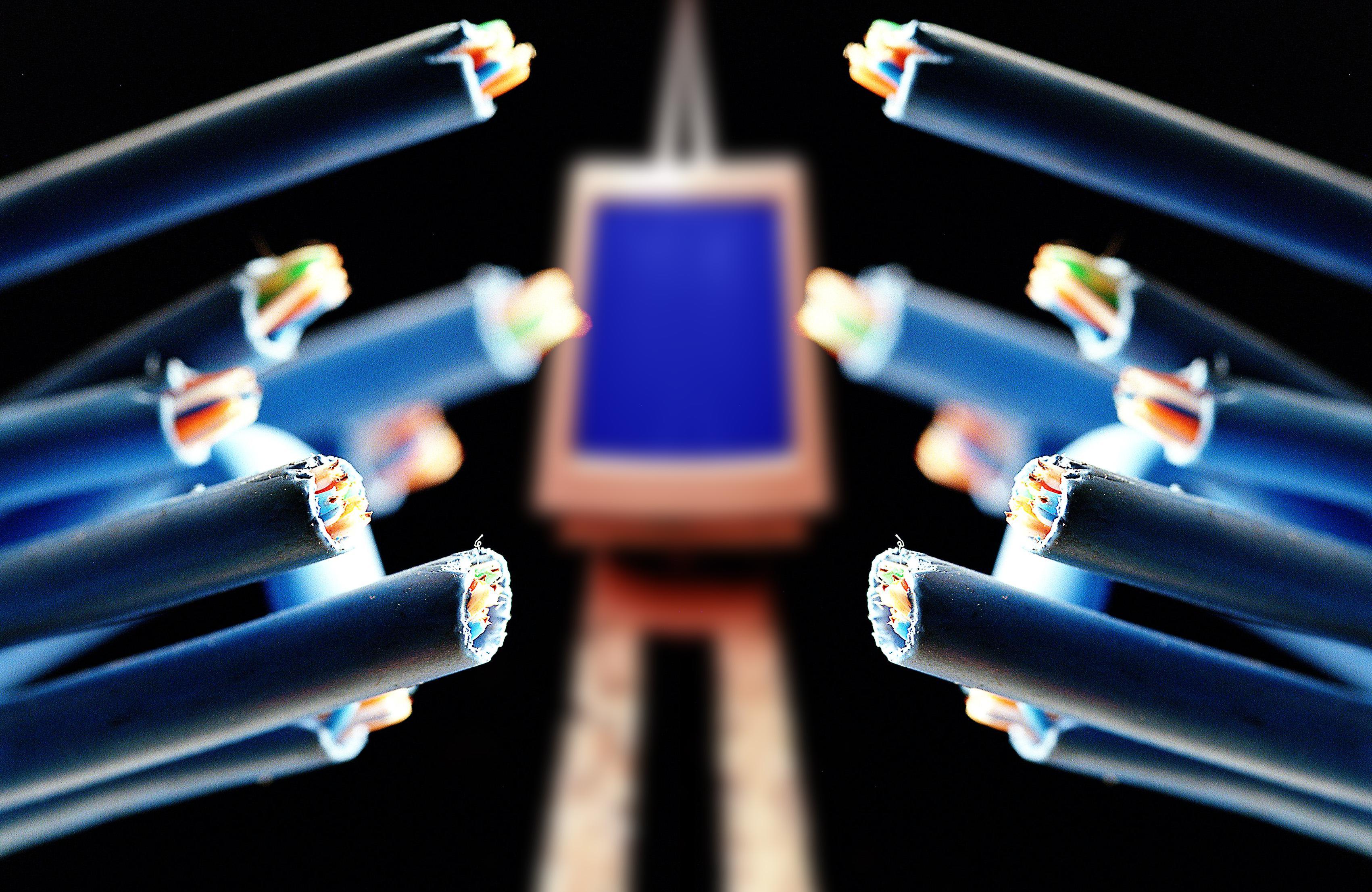 Photo illustration of computer network cables. 14 November 2004. AFR GENERIC Pi