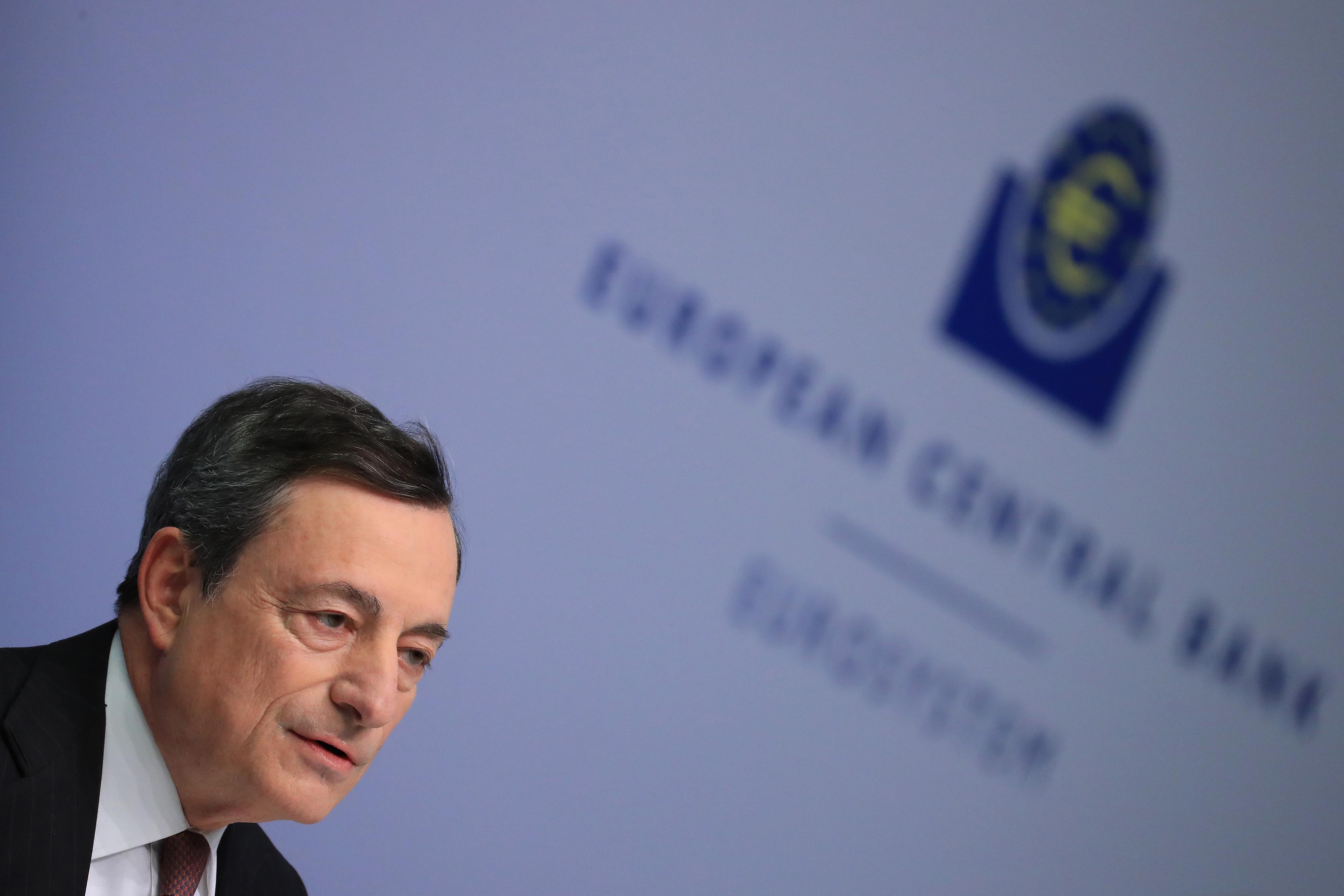 European Central Bank President Mario Draghi Announces Interest Rate Decision