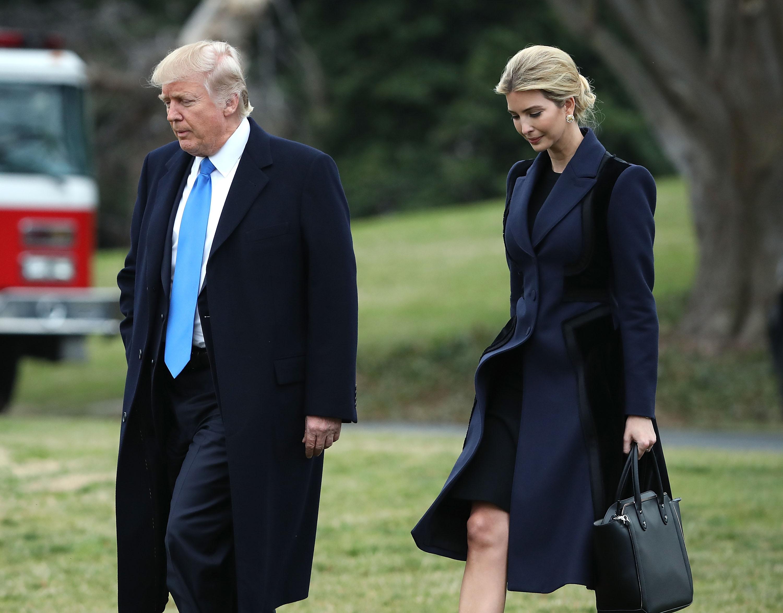 President Trump Departs White House To Honor NAVY Seal Killed in Yemen Raid
