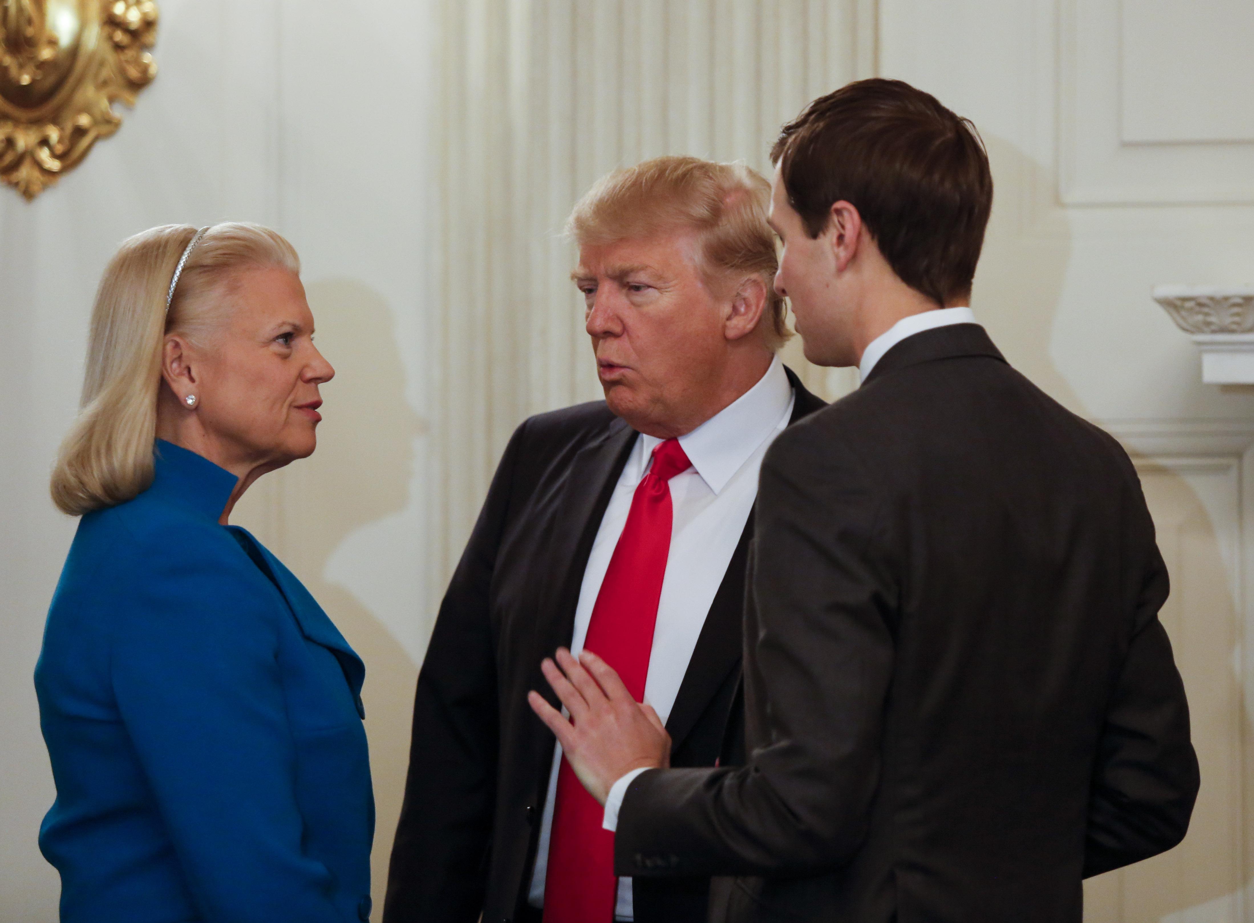 Donald Trump signs an Executive Order
