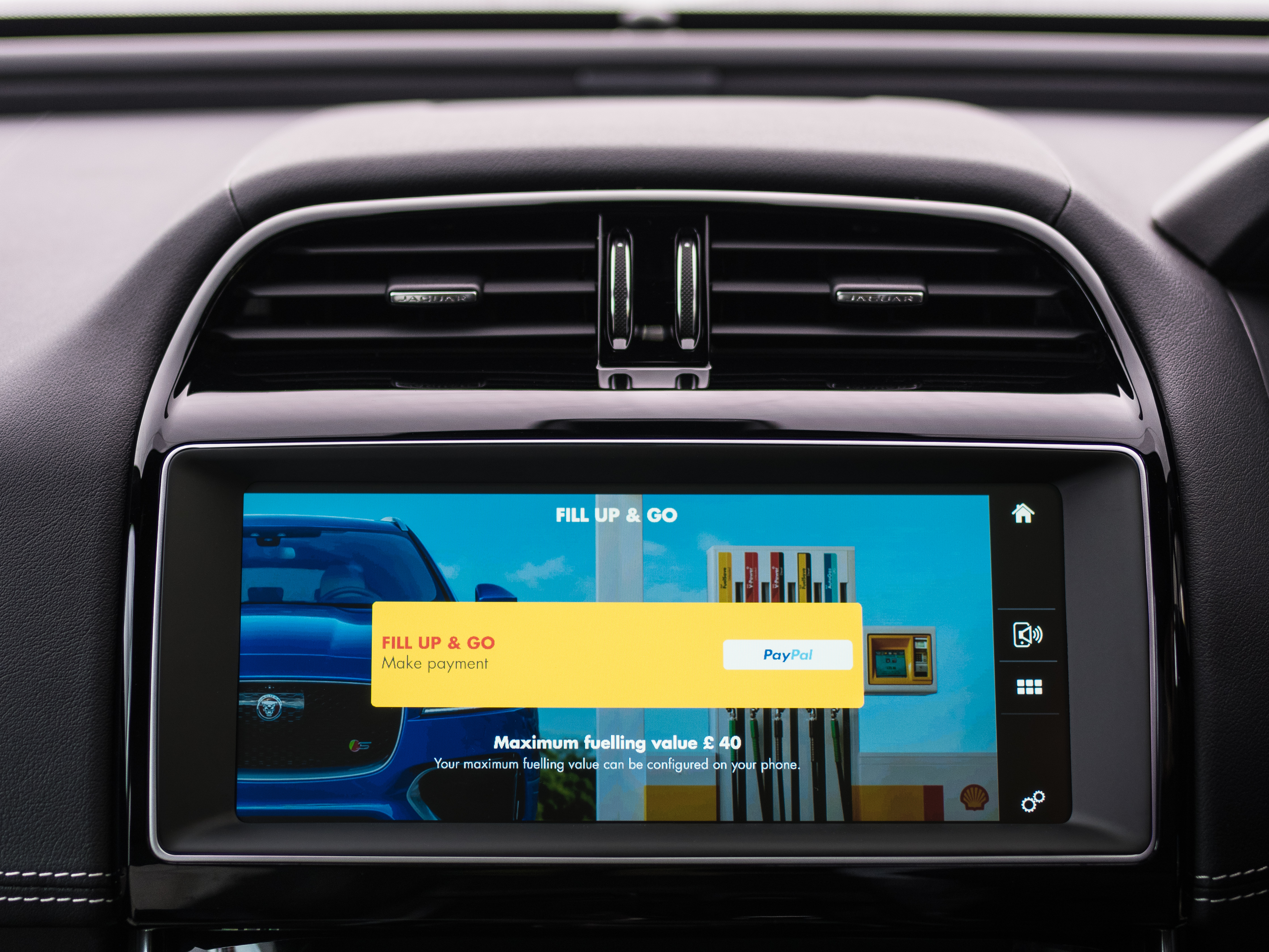 Jaguar Land Rover and Shell partnered to create a cashless pay-for-fuel app.