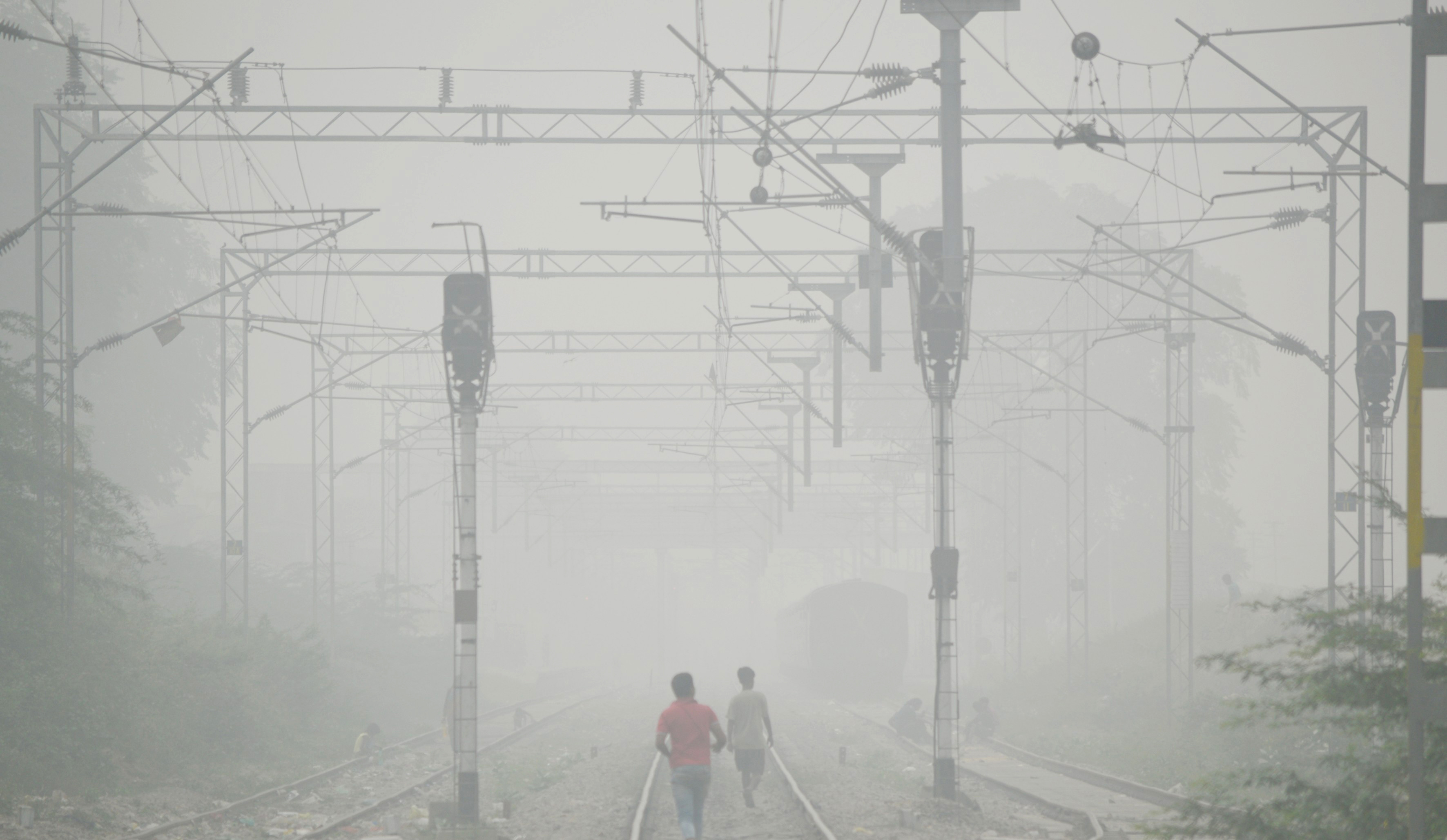 Heavy Smog In Lucknow, India