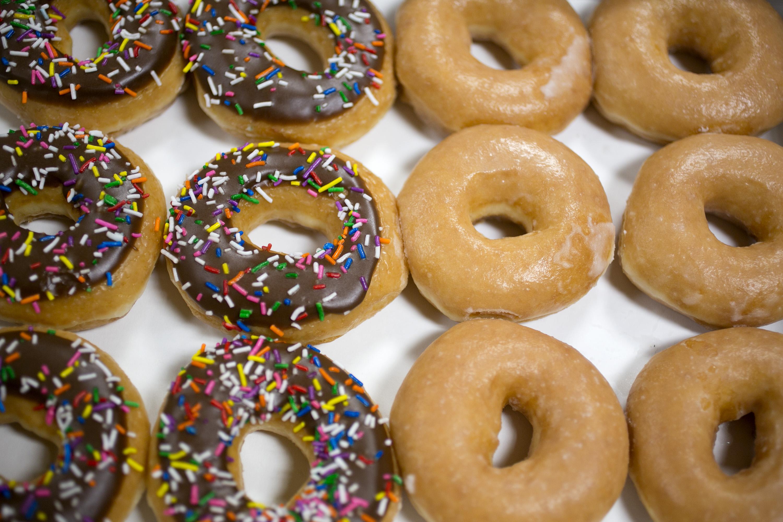 krispy kreme free donut glazed coffee