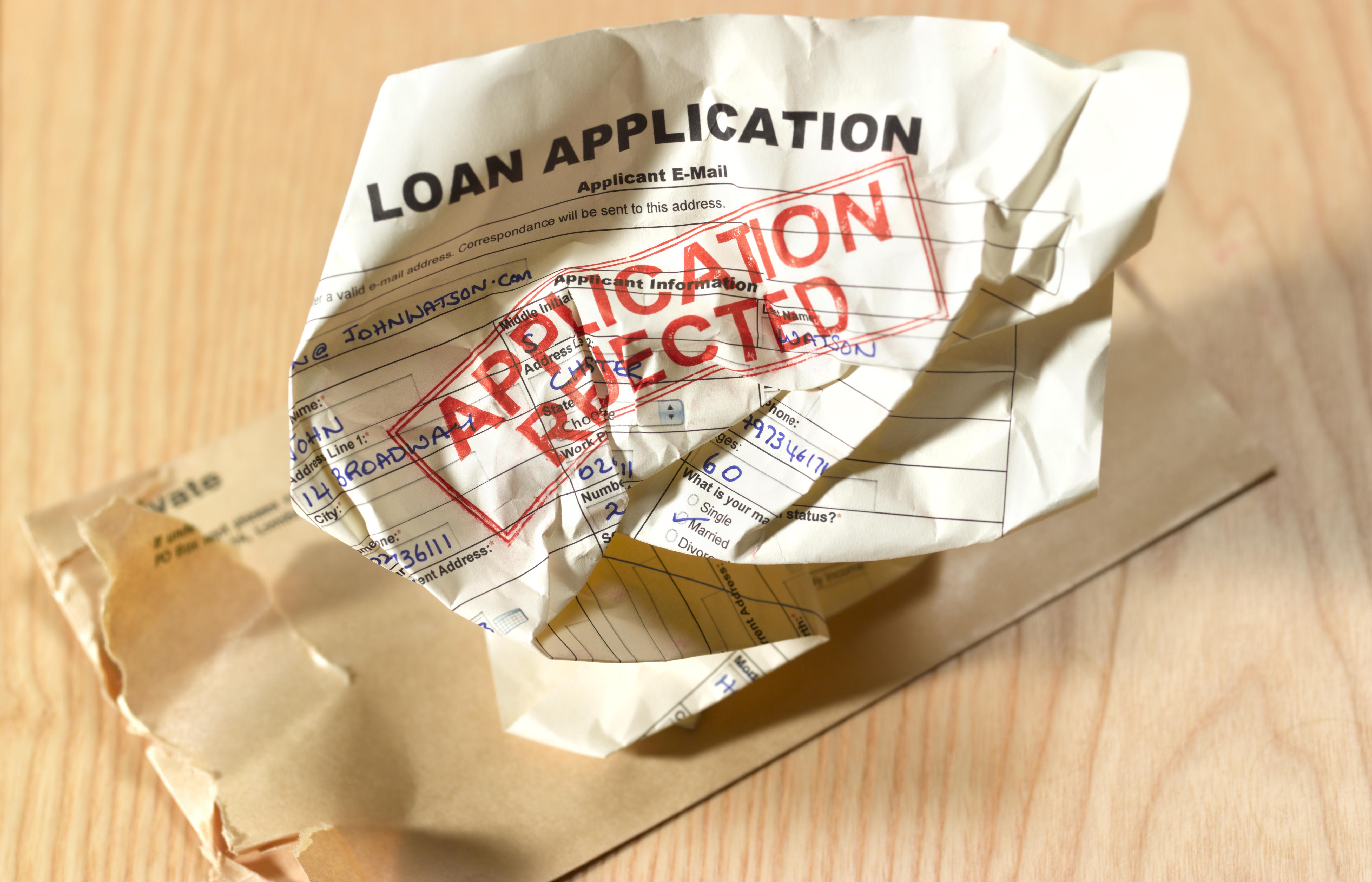 Loan application rejection
