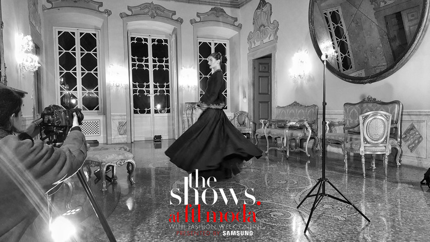 "Behind the scenes of ""Dreaming of Italy,"" the VR presentation filmed in Milan, Italy for New York Fashion Week."