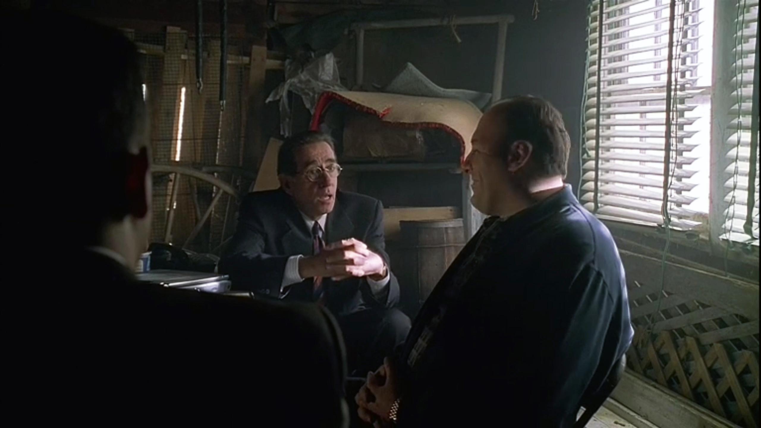 """Pellegrino with James Gandolfini in the """"Sopranos."""""""