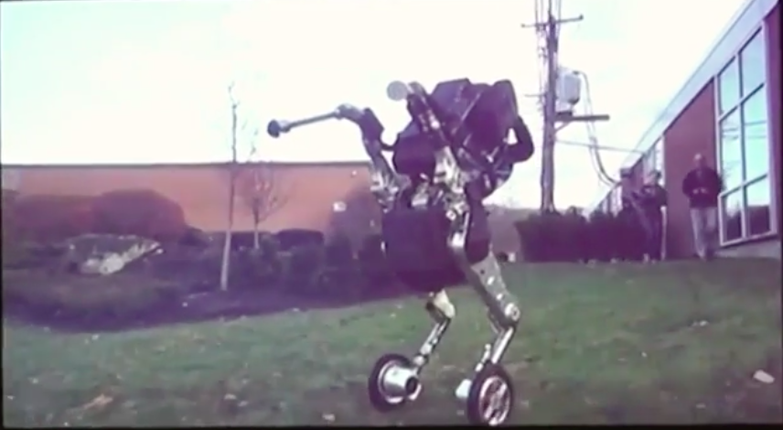"Boston Dynamics' wheeled ""Handle"" robot."