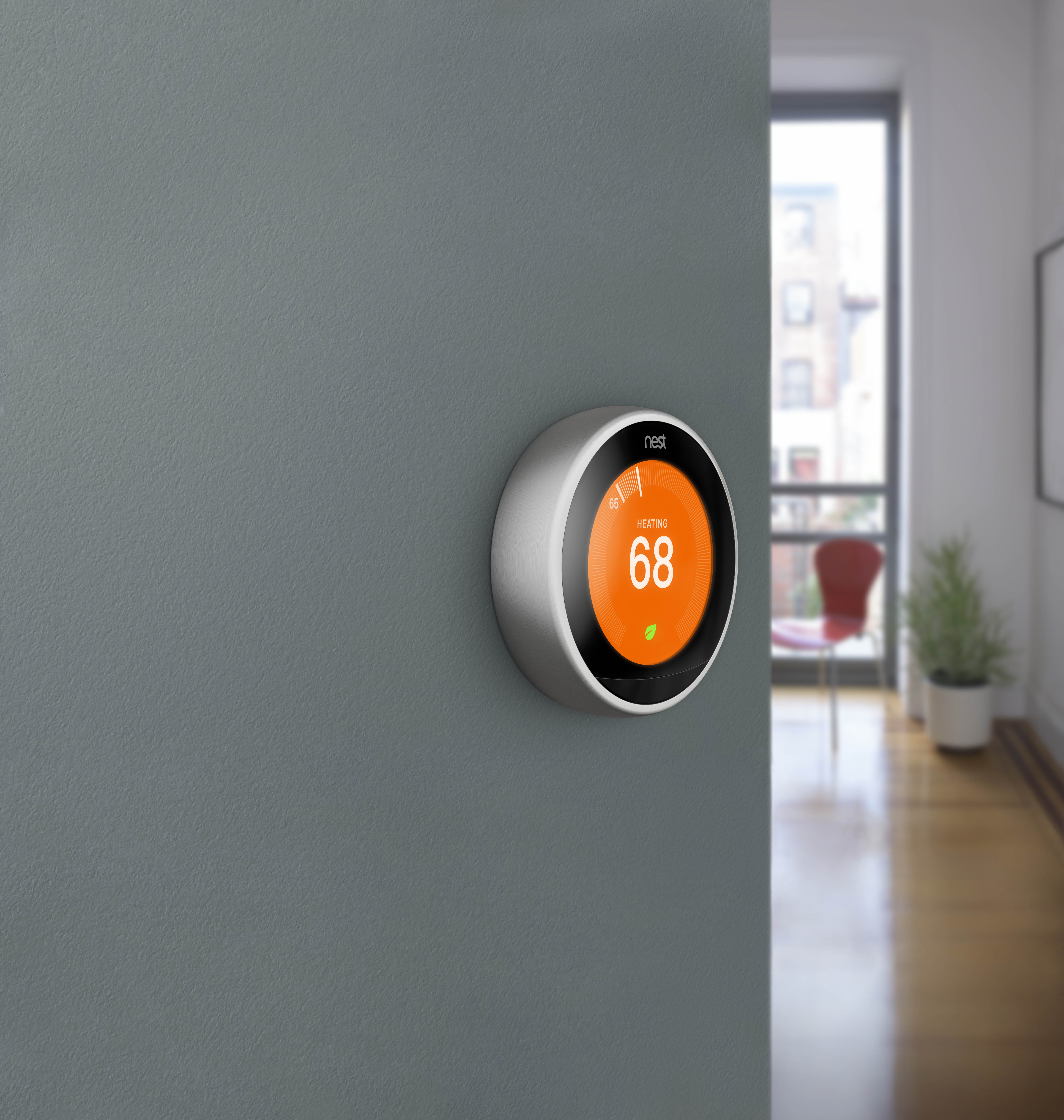 A third-generation Nest Thermostat.