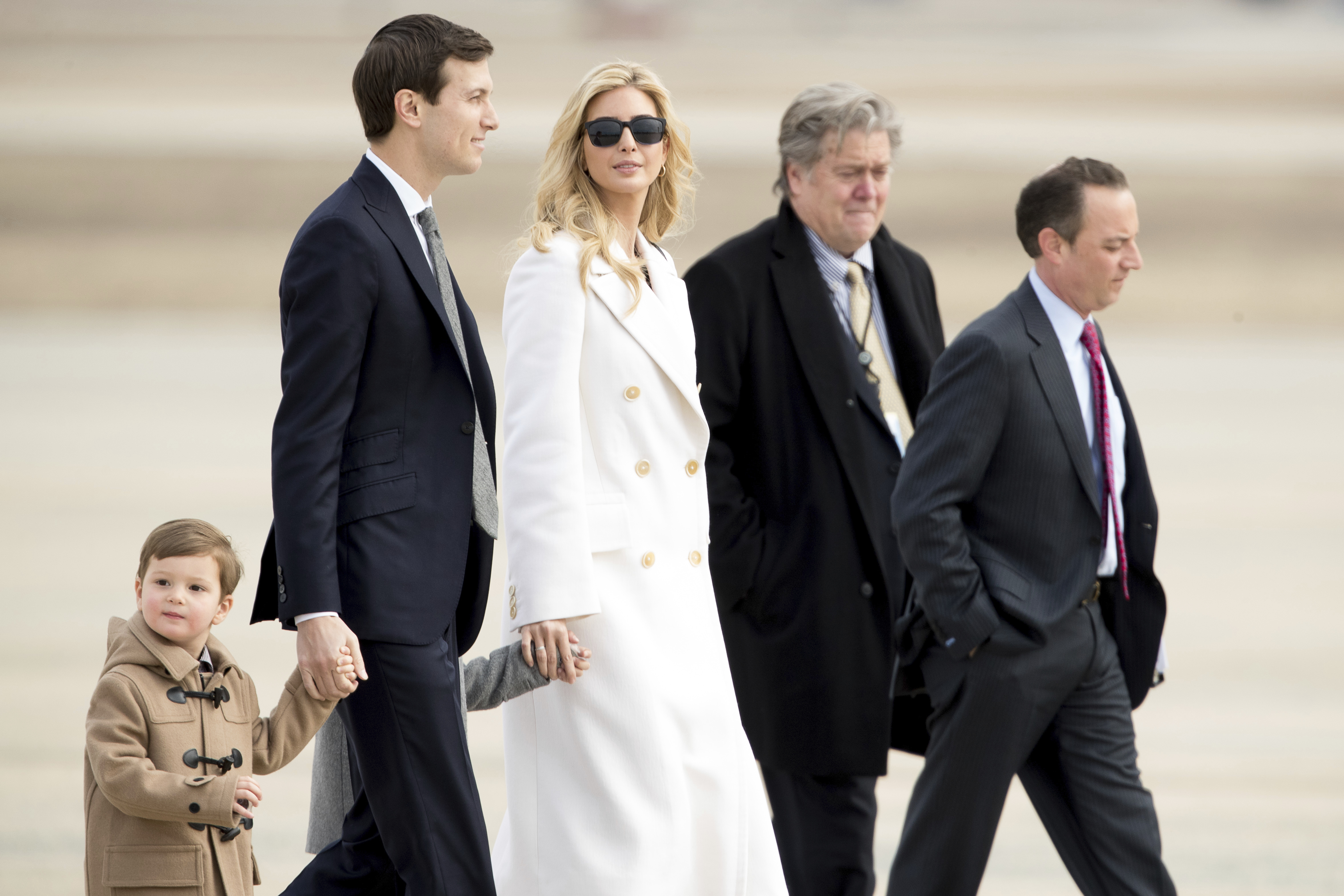 Ivanka Trump, Jared Kushner, Arabella Kushner, Joseph Kushner, Steve Bannon, Reince Priebus