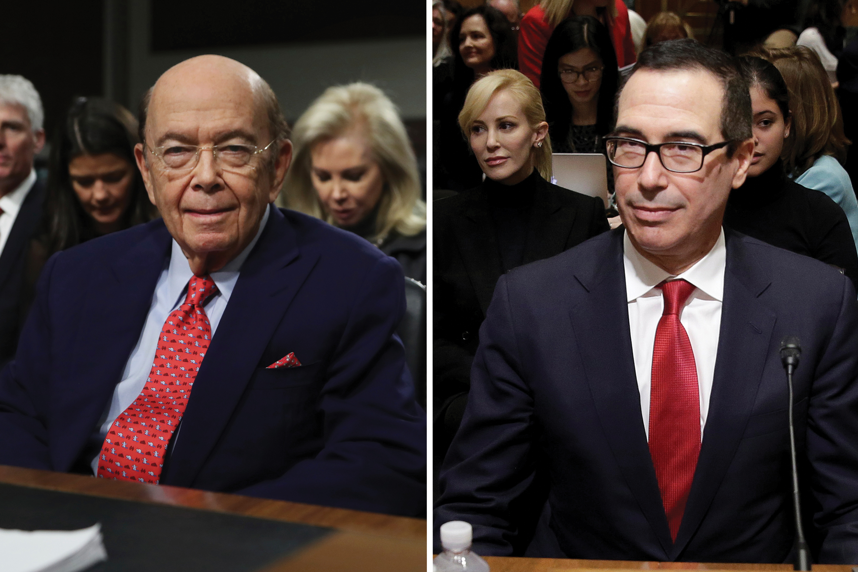 Wilbur Ross, left, and Steven Mnuchin.