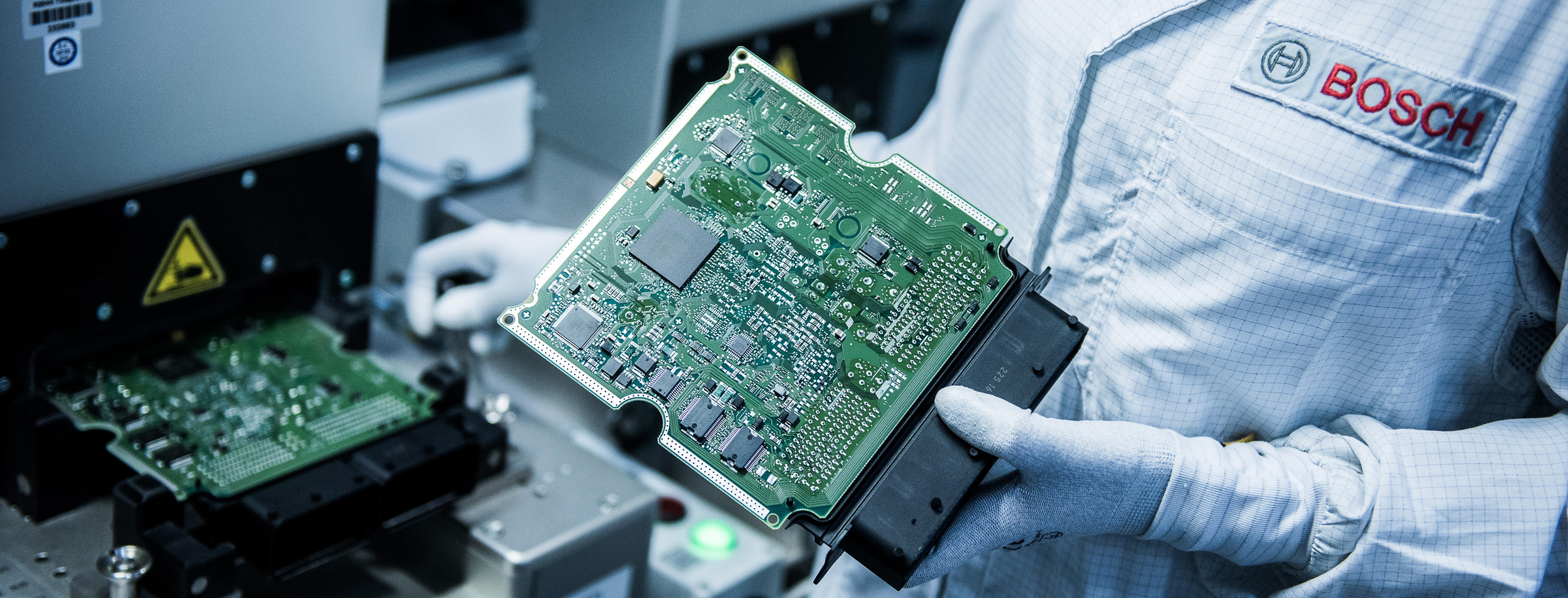 Automobile Electronic Component Manufacture Inside Robert Bosch GmbH Plant