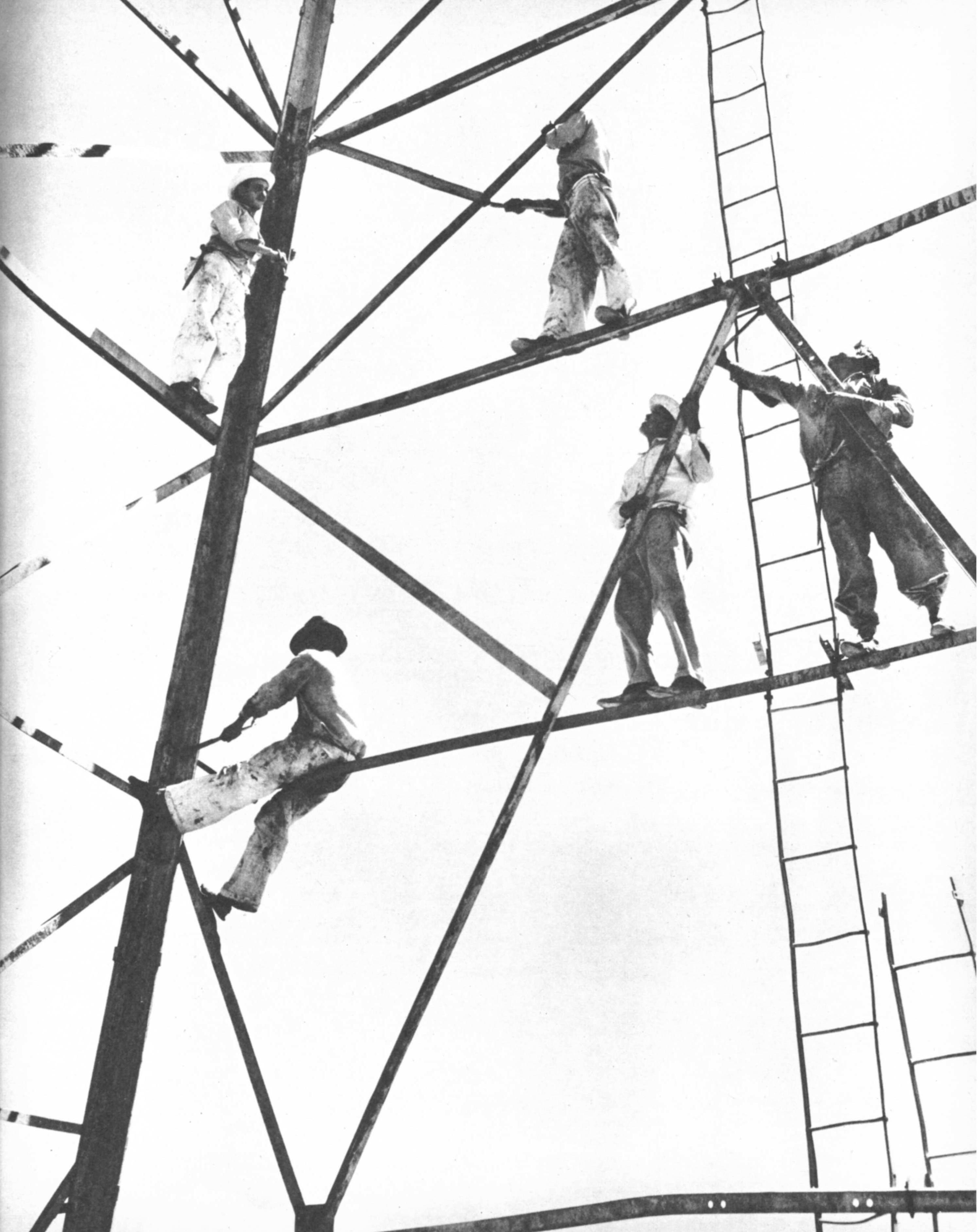 Derrick construction in Venezuela.