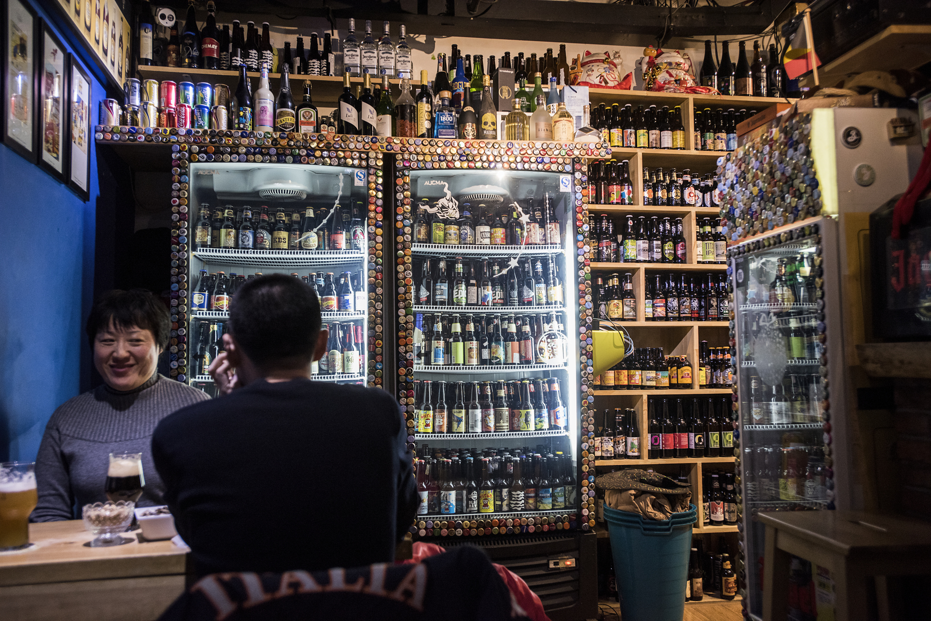 The emergence of craft beers, domestic and imported, in ChinaCorner, one of a number of bottle shops opening in Chinese cities, carries over 300 different kinds of imported beers.