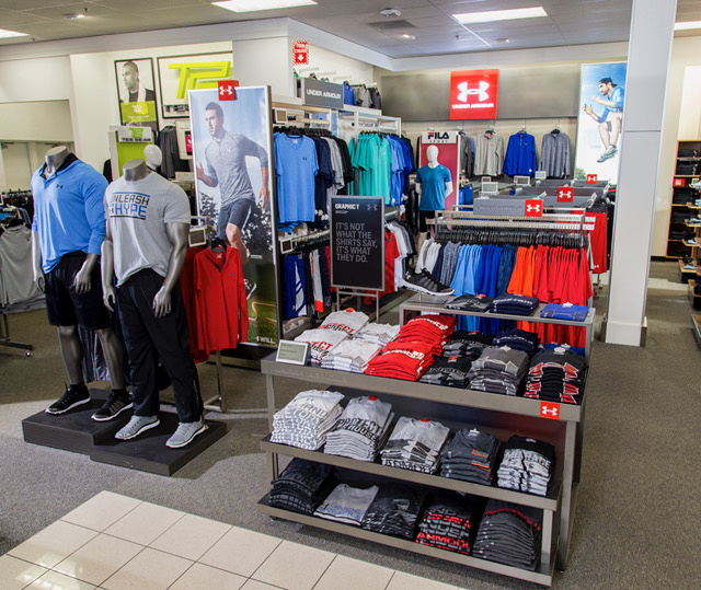 An Under Armour display in a Kohl's store.