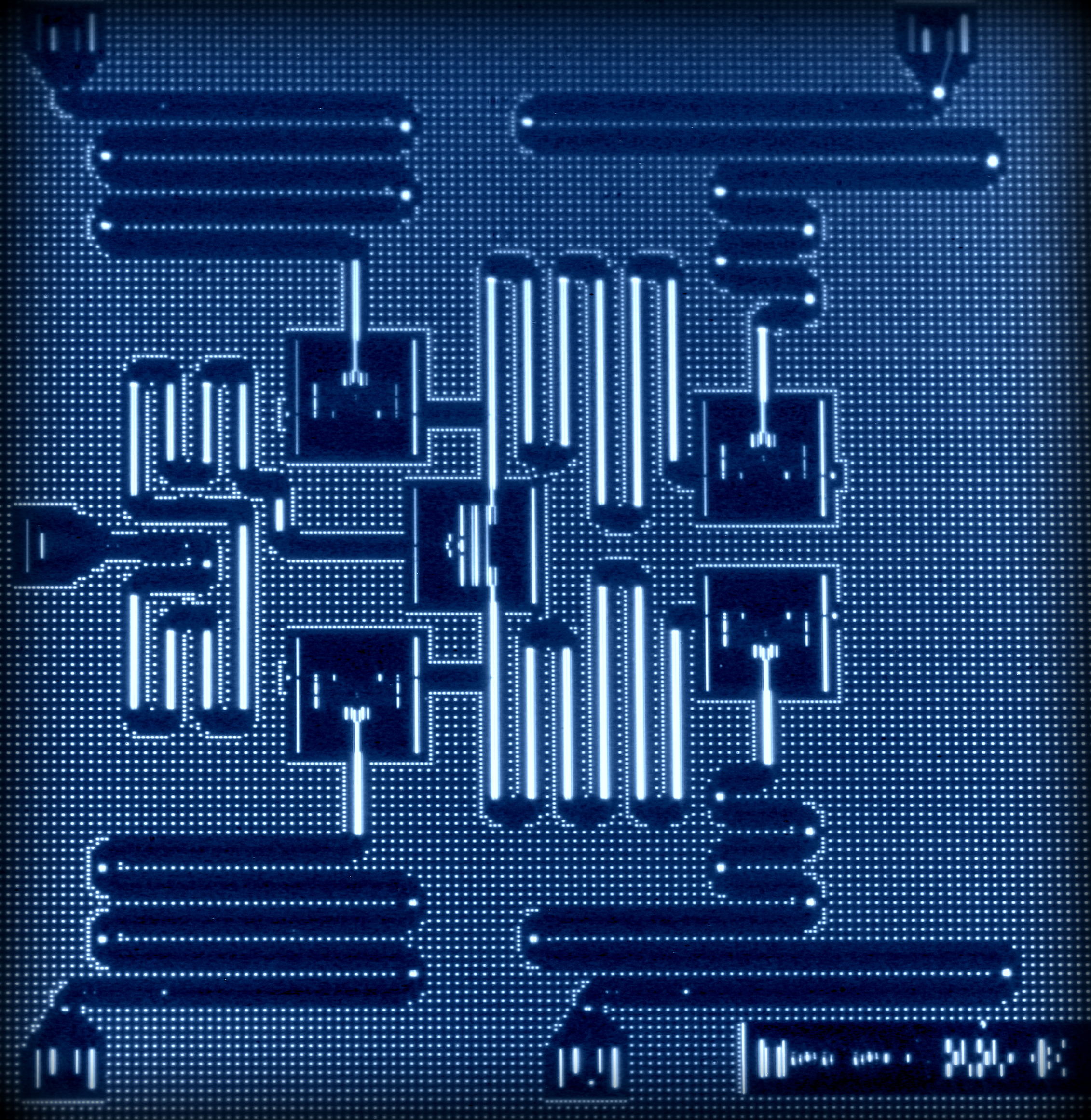 Layout of IBM's five superconducting quantum bit device.