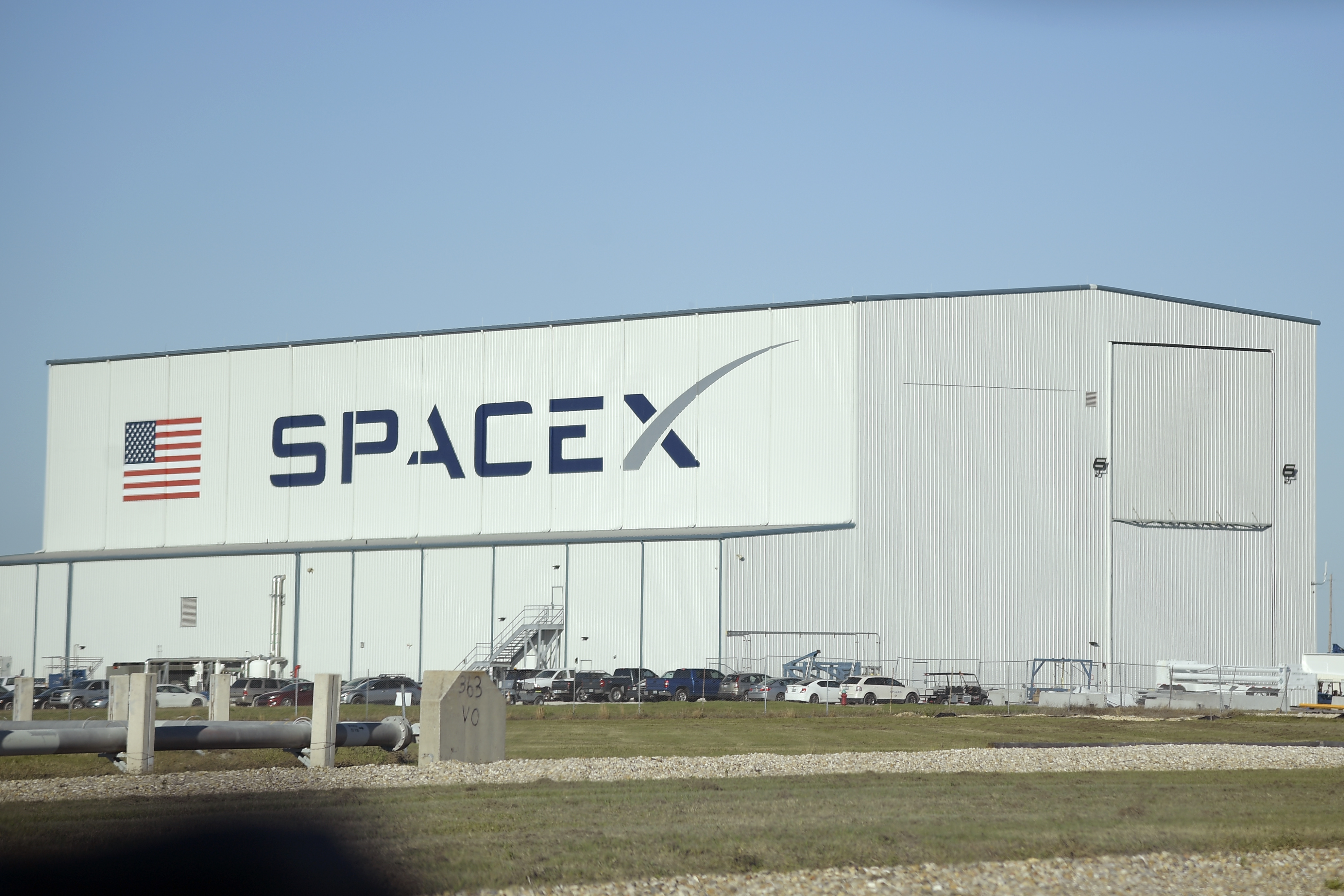 CAPE CANAVERAL, FL-JANUARY 27: A SpaceX processing building sit