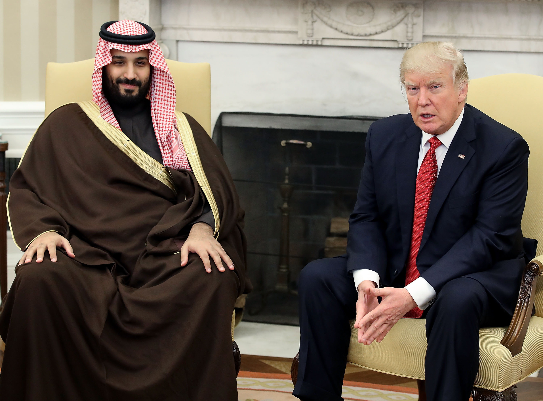 U.S. President Donald Trump Meets With Saudi Arabia's Defense Minister Mohammed Bin Salman