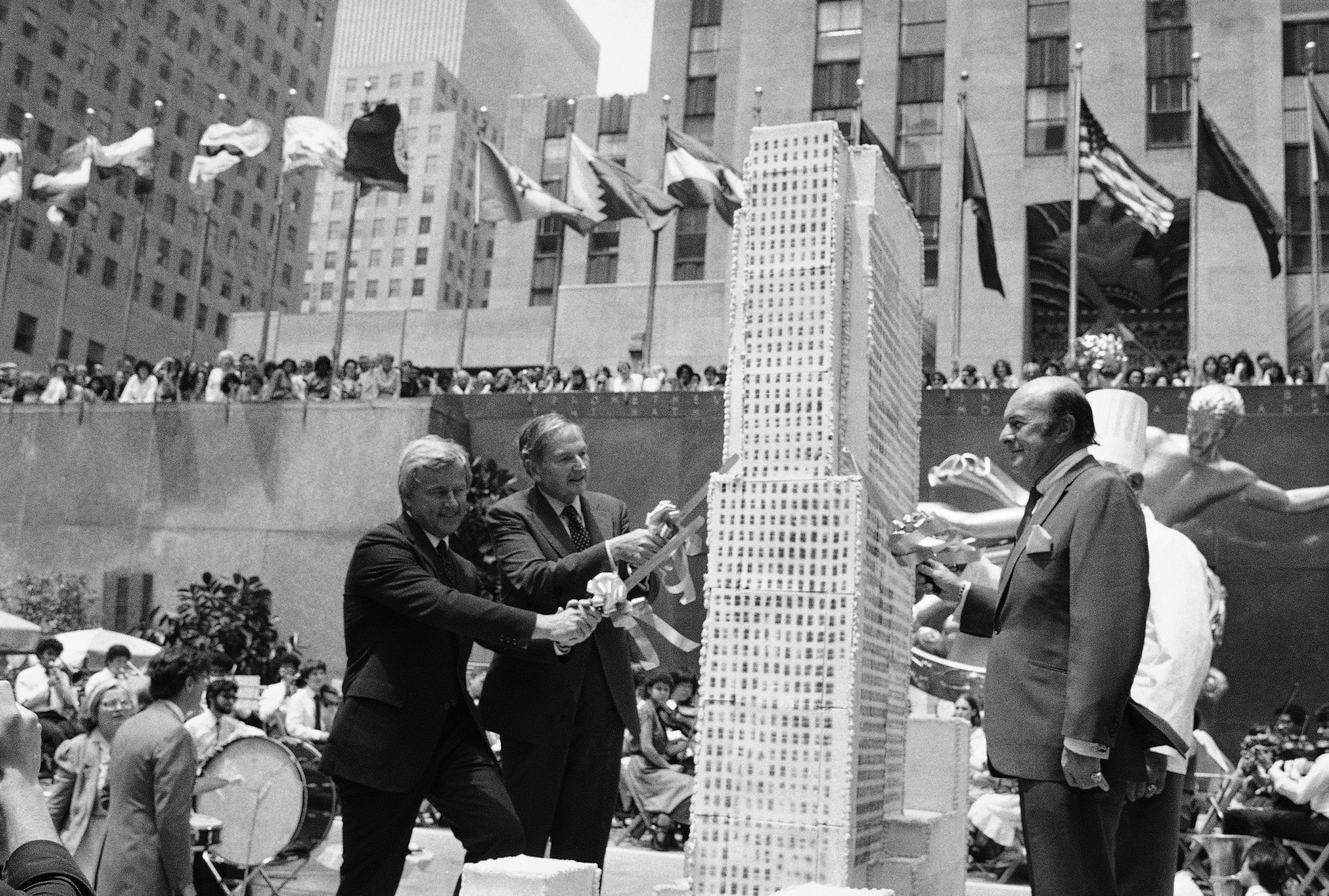 David Rockefeller at Rockefeller Center