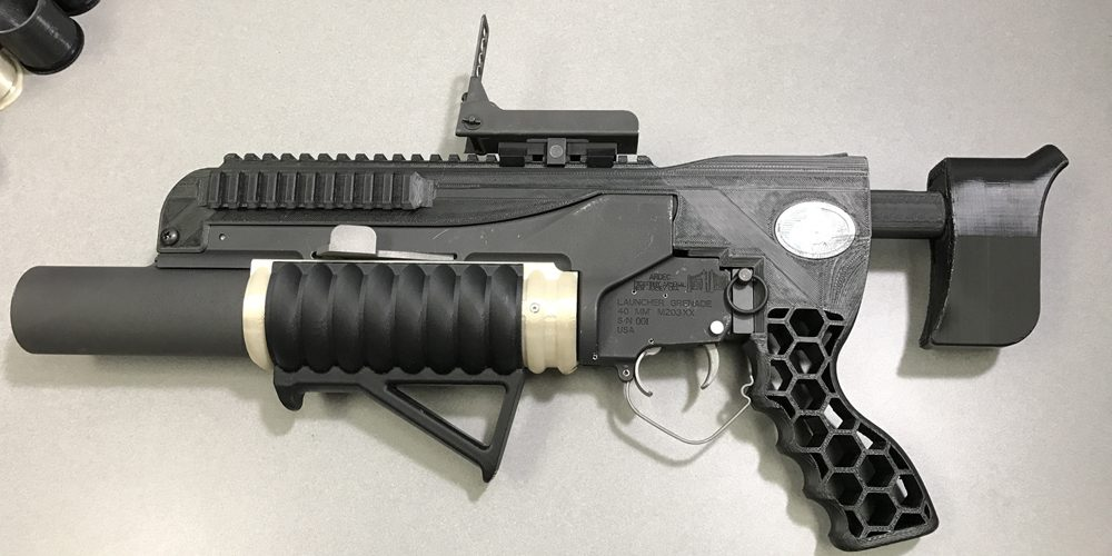 The U.S. Army's new 3D printed grenade launcher.