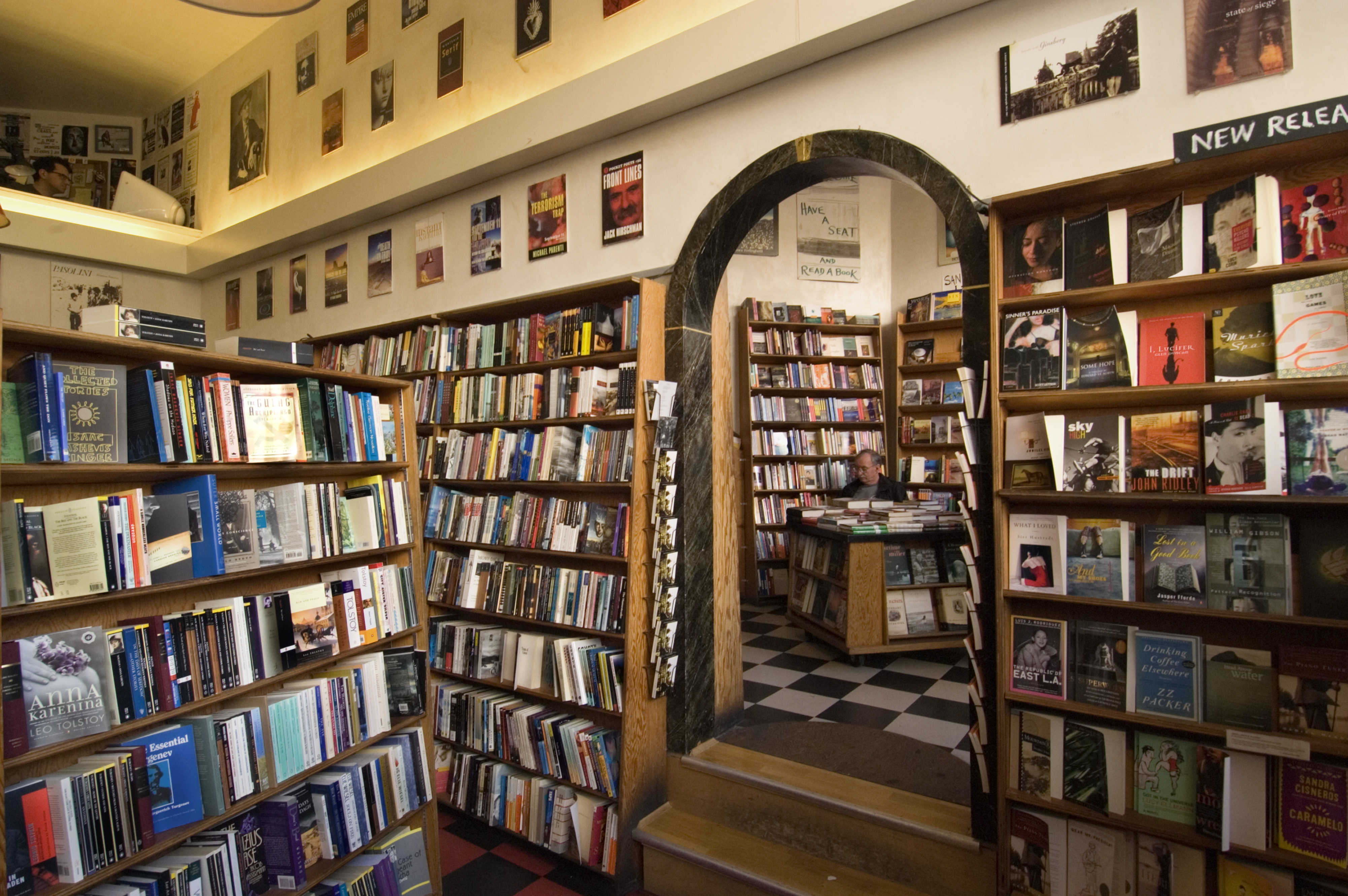 City Lights Bookstore interior.