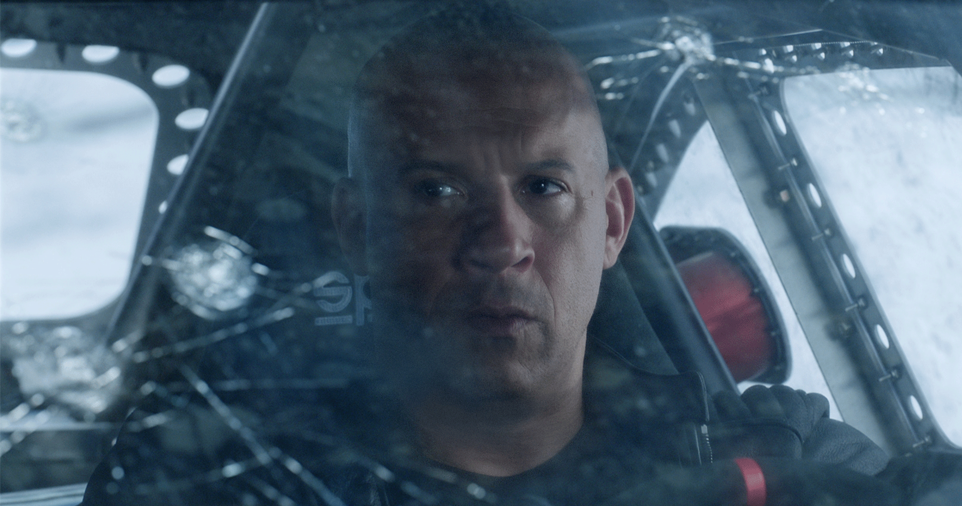 "Vin Diesel in a movie still from Universal's ""The Fate of the Furious."""