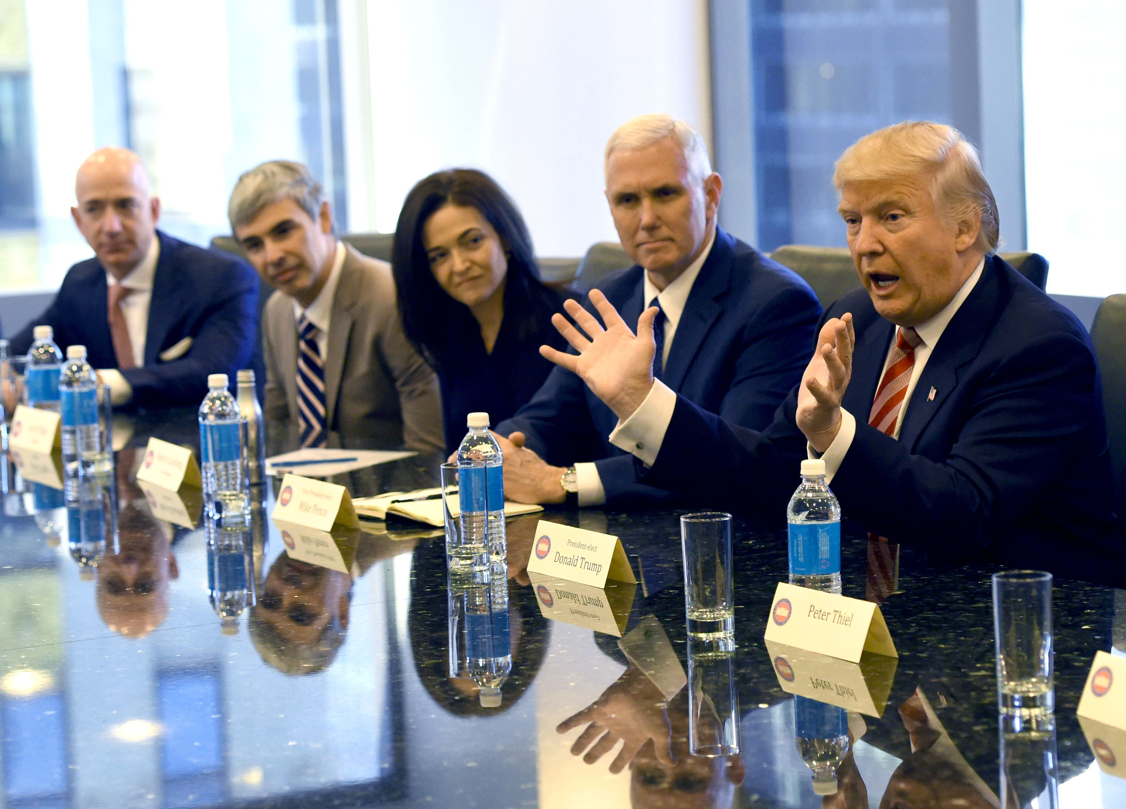 President Donald Trump meeting Silicon Valley leaders