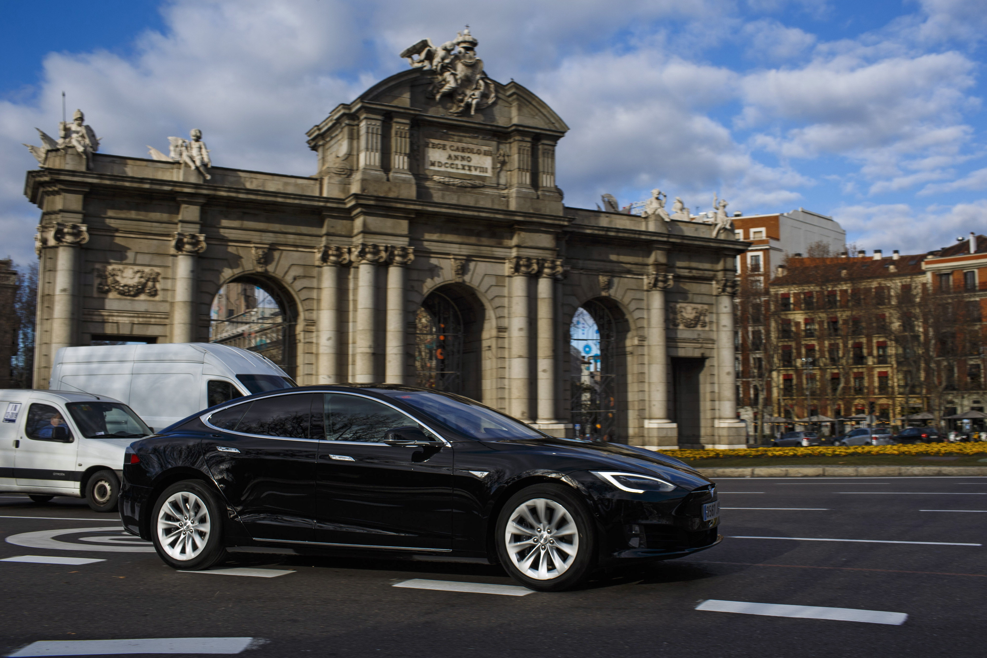 Uber Technologies Inc. Electric Car Taxi Service In Madrid