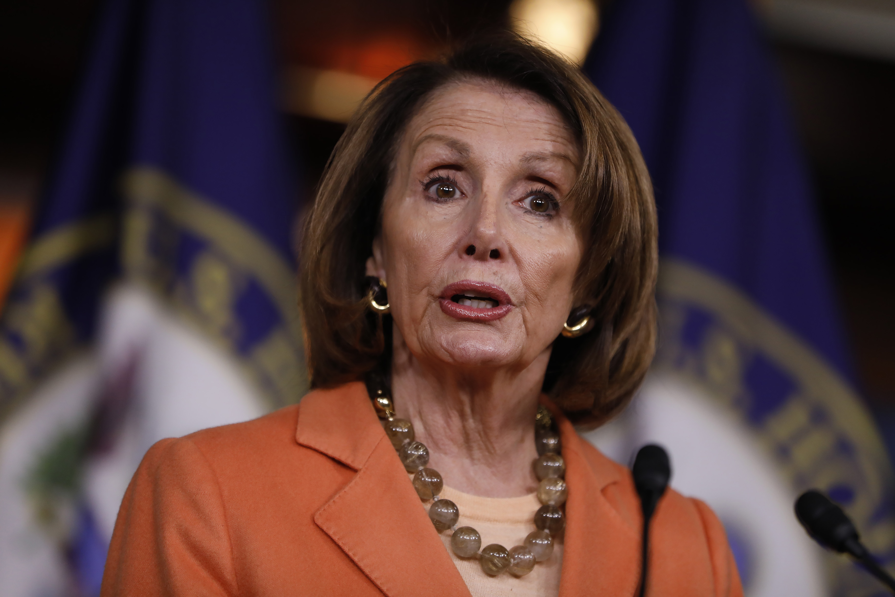 House Minority Leader Nancy Pelosi Holds Weekly News Conference On Capitol Hill