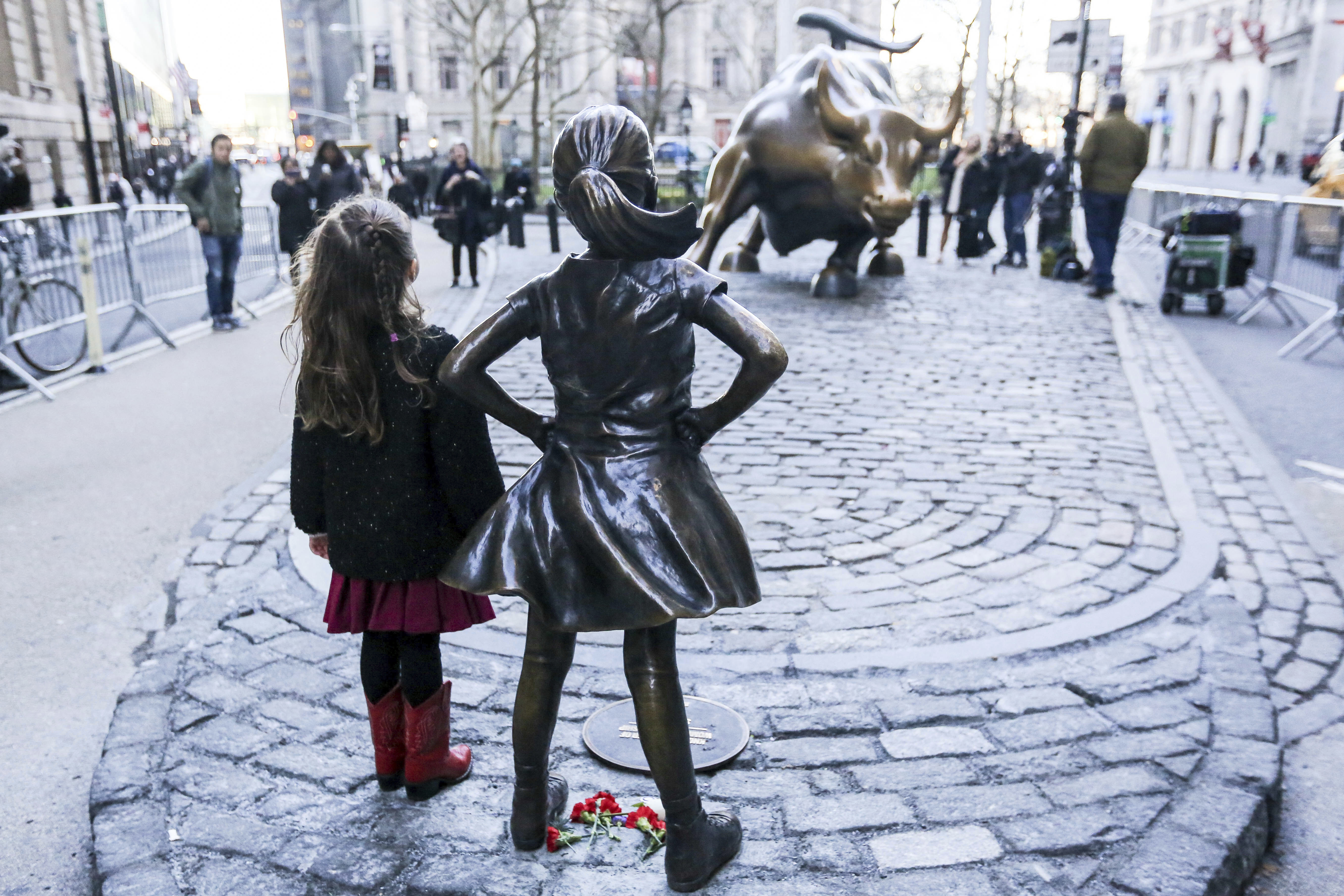 'The Fearless Girl' Statue in New York